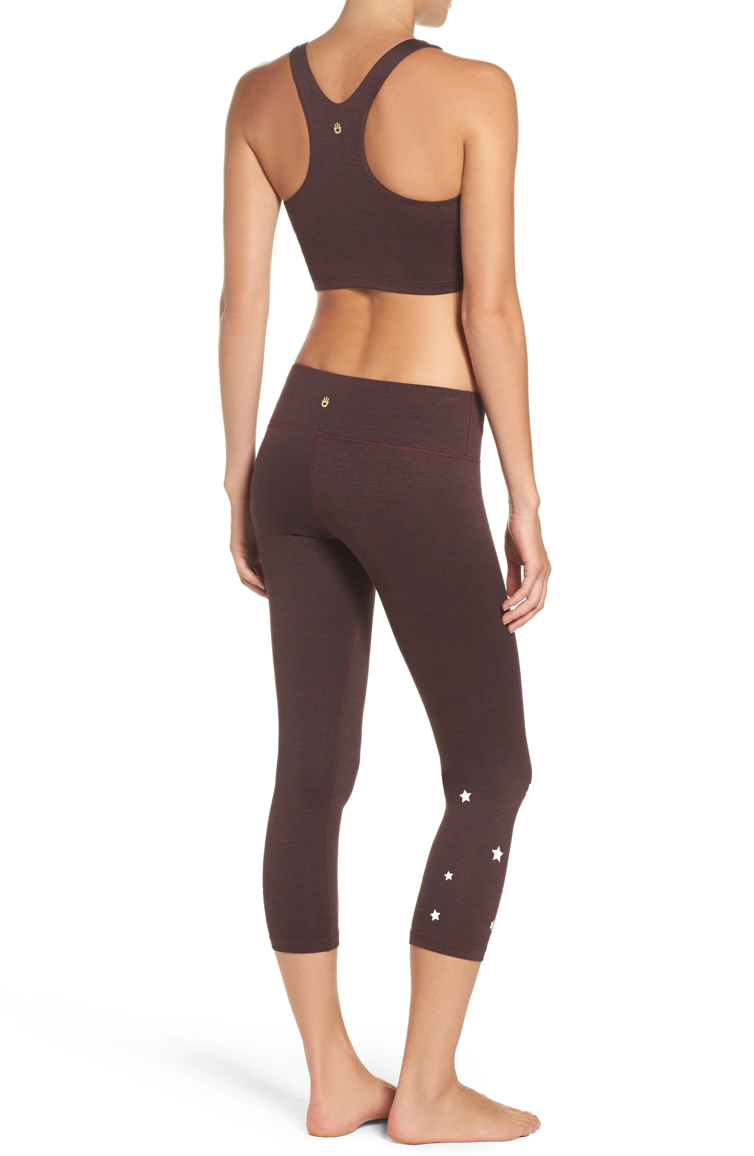 Stars Power Crop Leggings,                             Alternate thumbnail 9, color,                             602