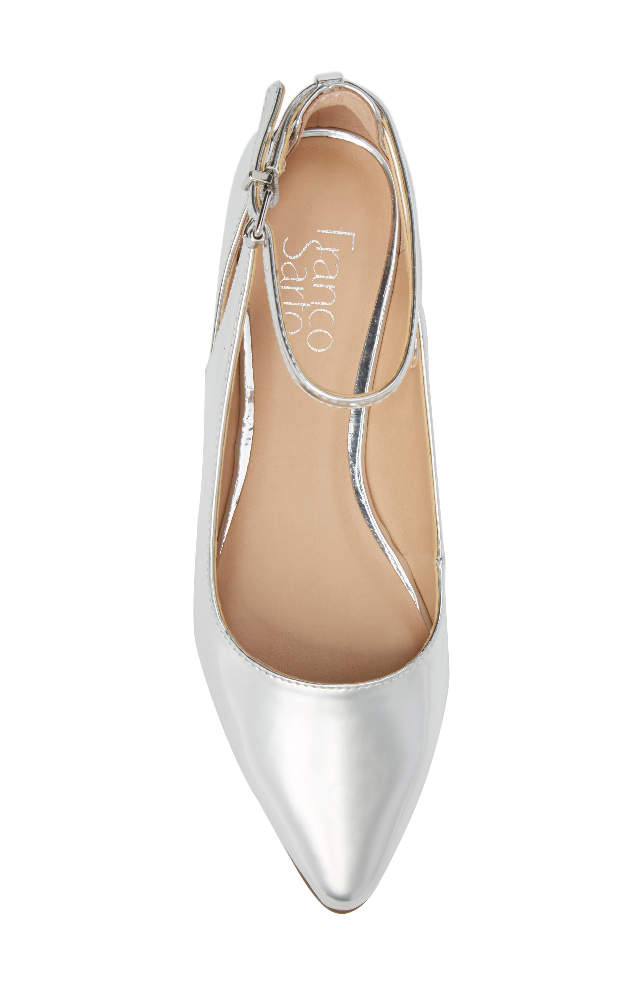 Sylvia Ankle Strap Flat,                             Alternate thumbnail 5, color,                             040