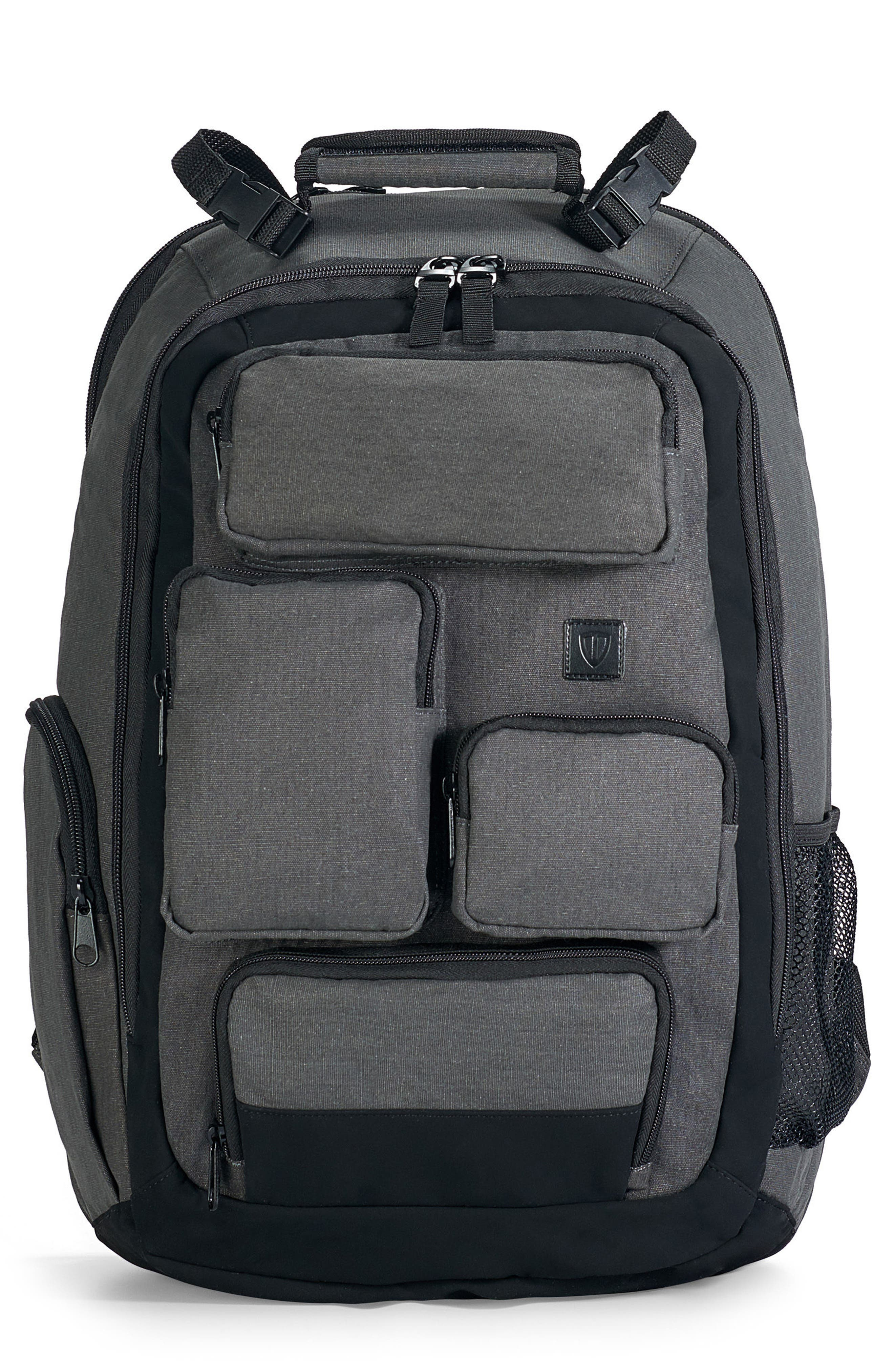 Canvas Diaper Backpack,                             Main thumbnail 1, color,                             020