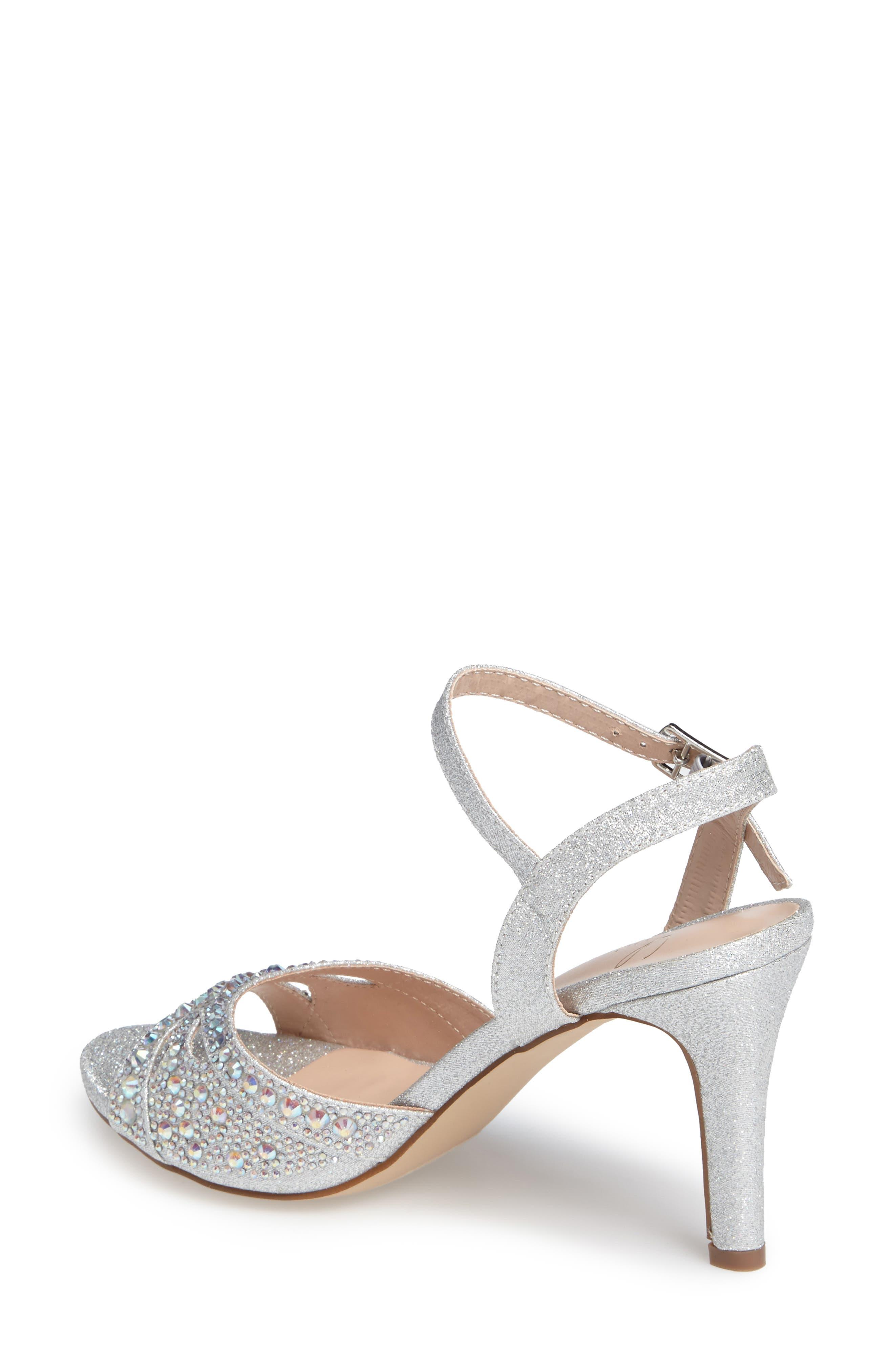Florence Crystal Embellished Sandal,                             Alternate thumbnail 3, color,