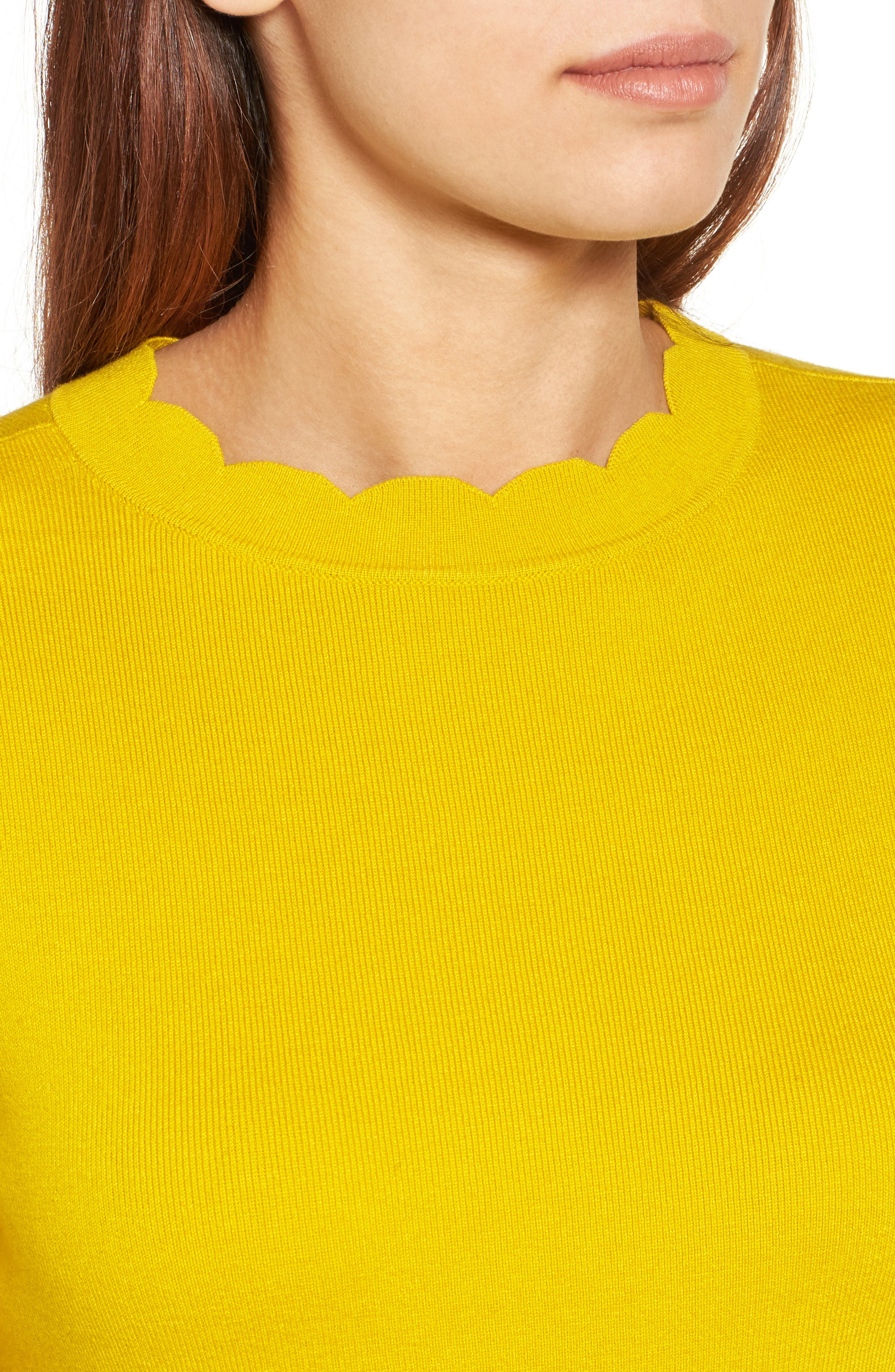 Halogen Scallop Edge Sweater,                             Alternate thumbnail 43, color,