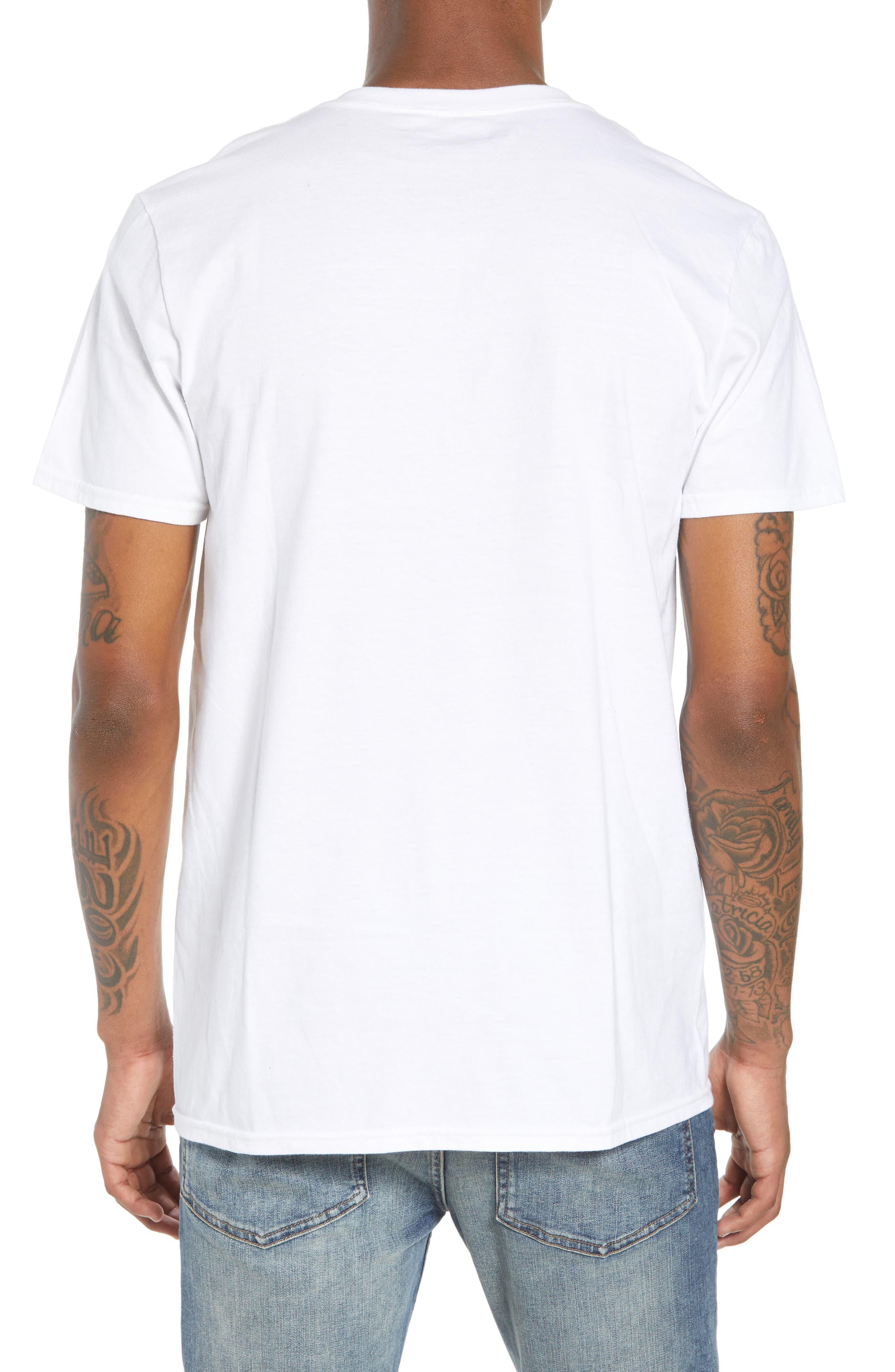 Tie Dye Smiley Face T-Shirt,                             Alternate thumbnail 2, color,                             100