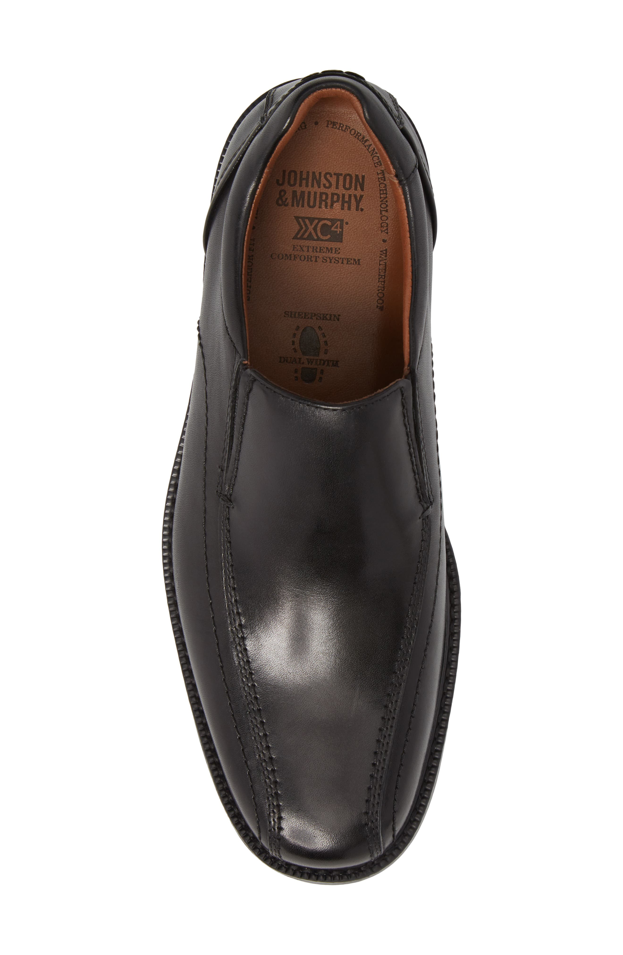 Stanton Runoff XC4<sup>®</sup> Waterproof Bike Toe Slip-On,                             Alternate thumbnail 5, color,                             BLACK LEATHER