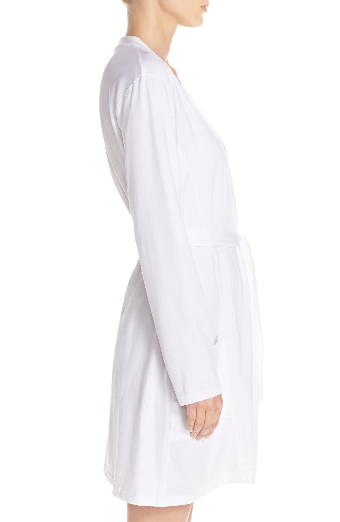Stretch Cotton Robe,                             Alternate thumbnail 6, color,
