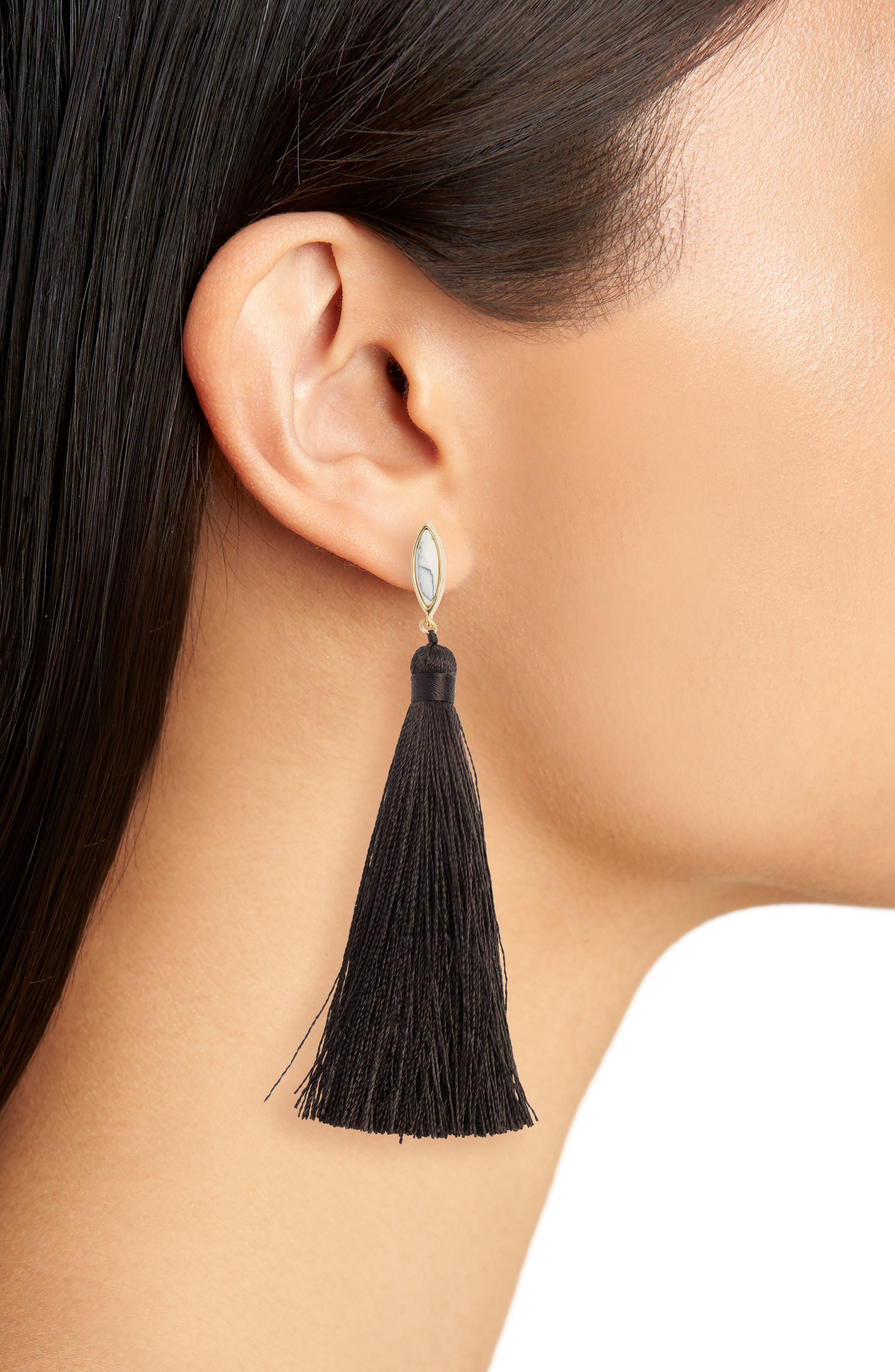 Palisades Tassel Earrings,                             Alternate thumbnail 2, color,                             100