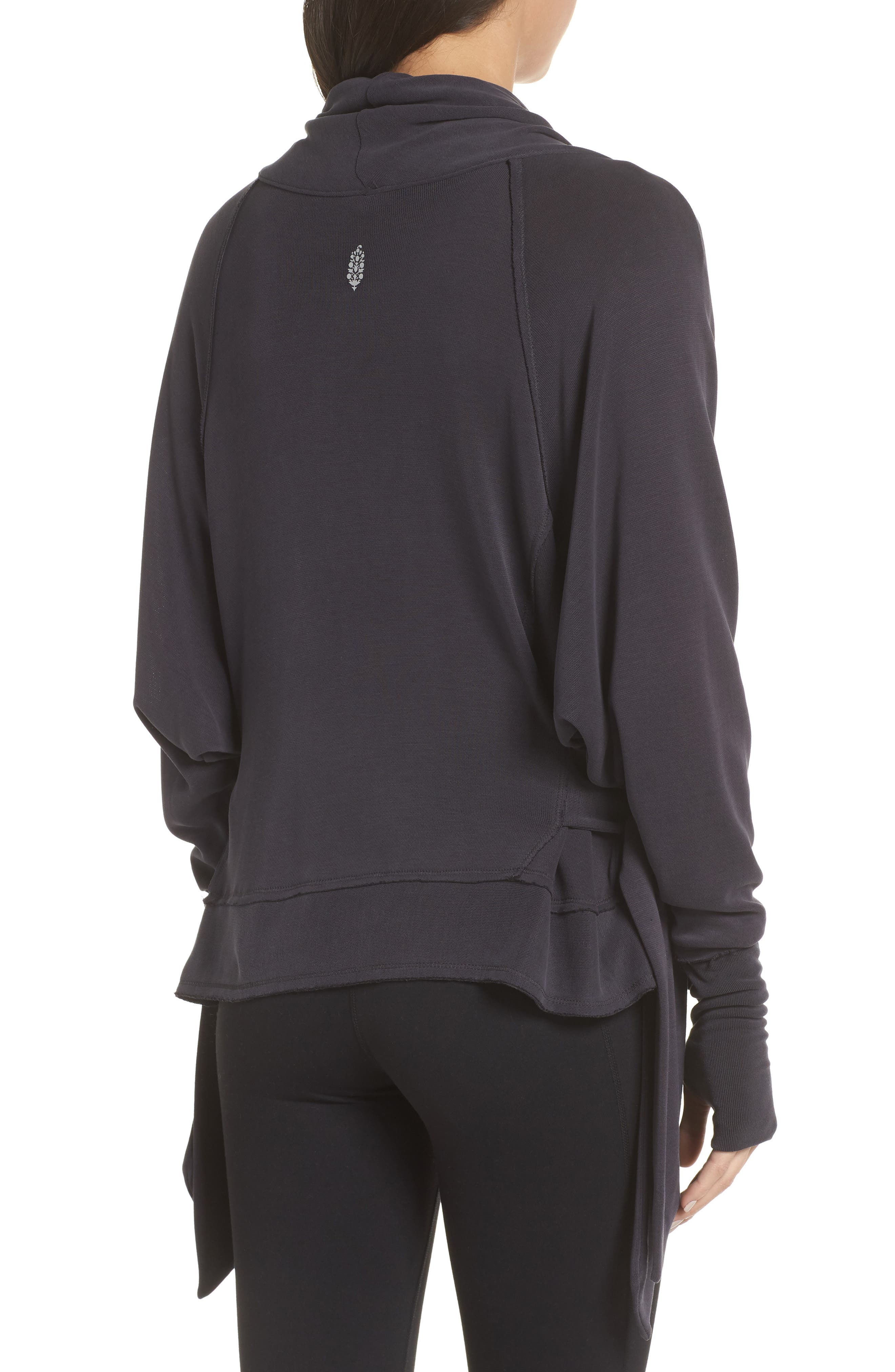 Free People FP Movement Sweet Flow Pullover Sweater,                             Alternate thumbnail 2, color,                             BLACK