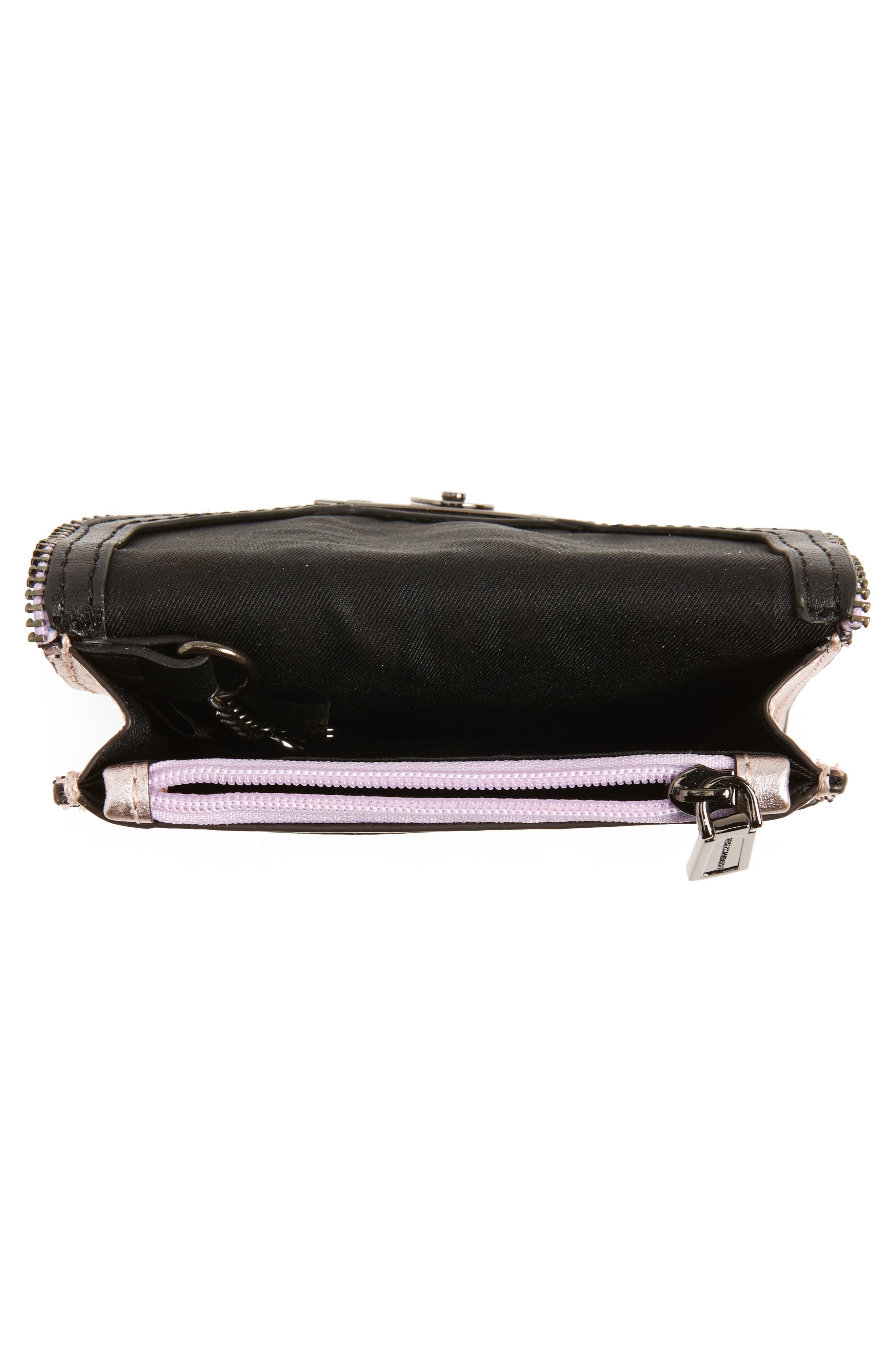 Molly Metro Metallic Leather Wallet,                             Alternate thumbnail 4, color,