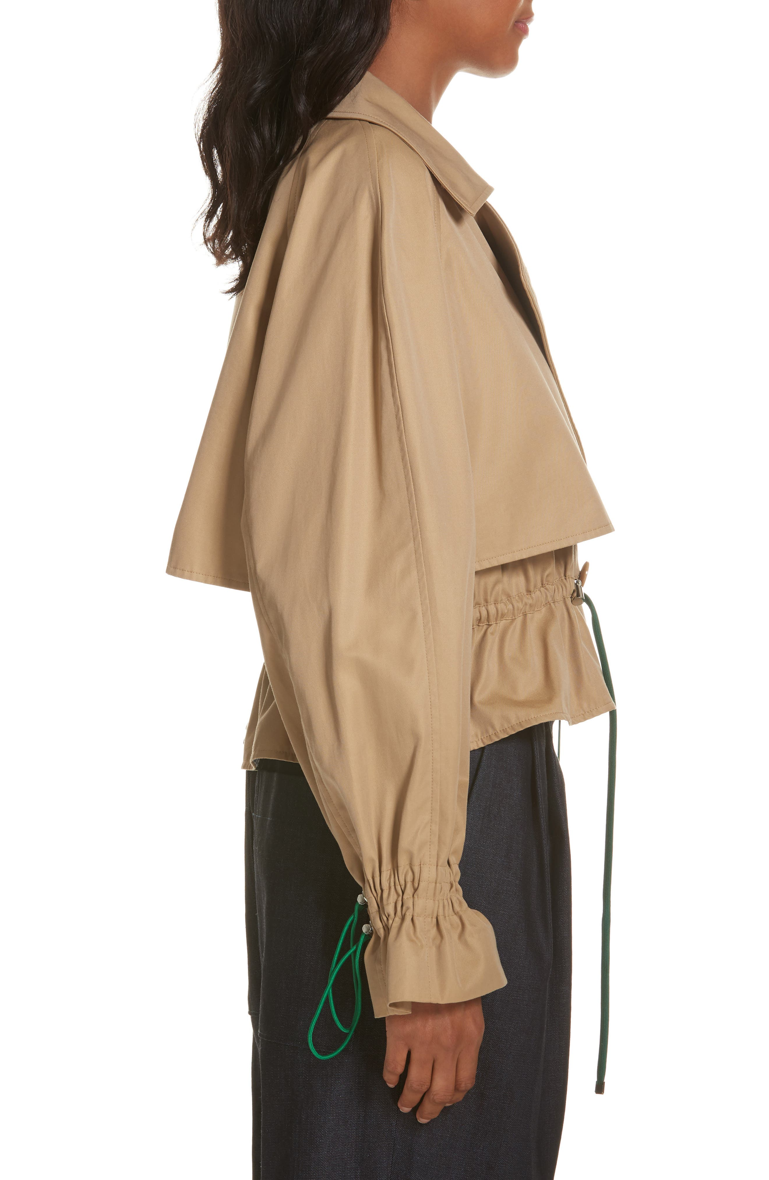 Finn Water Resistant Twill Crop Trench Coat,                             Alternate thumbnail 3, color,                             250