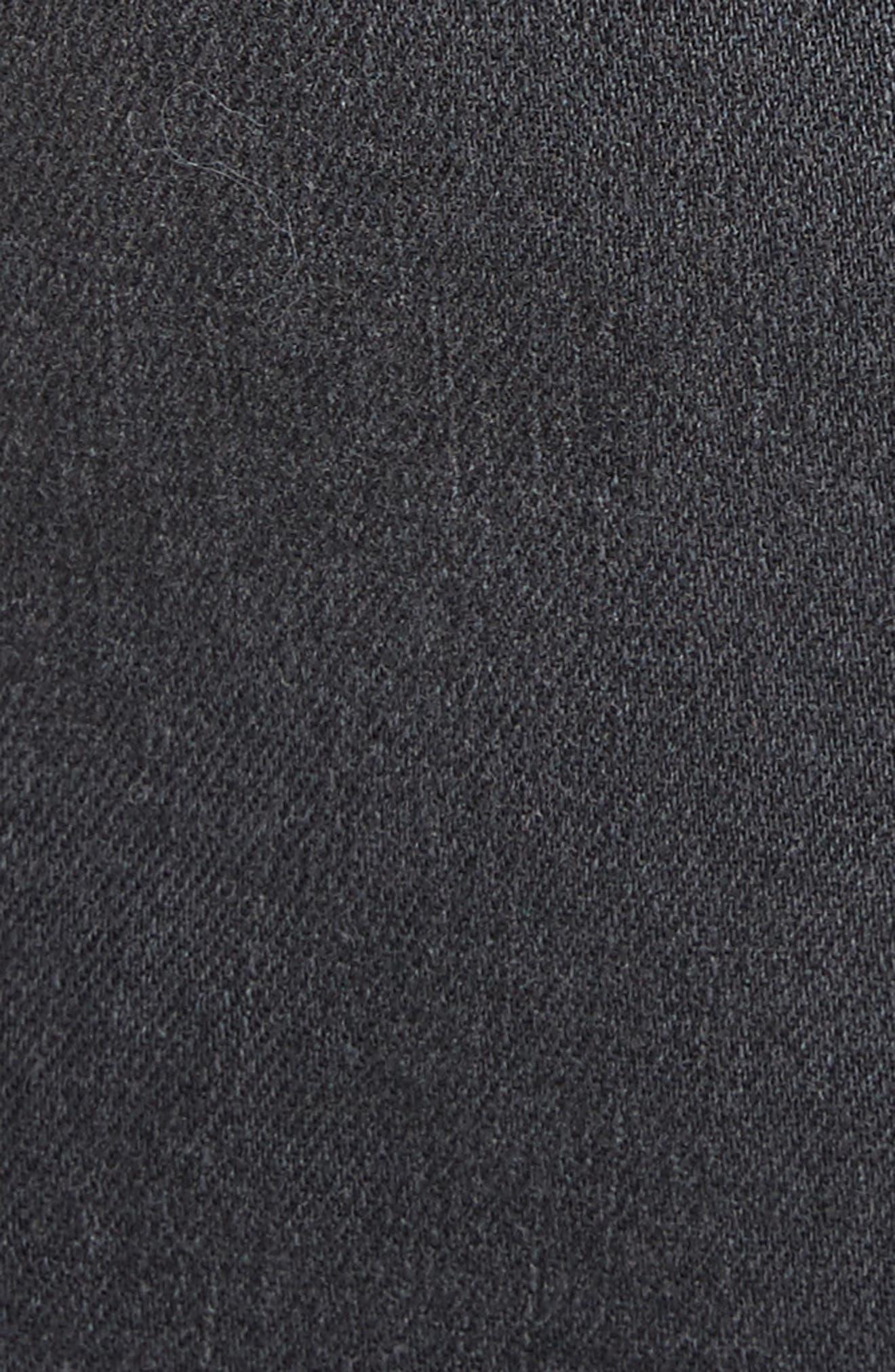 Portia Lace Up Denim Skirt,                             Alternate thumbnail 5, color,                             006