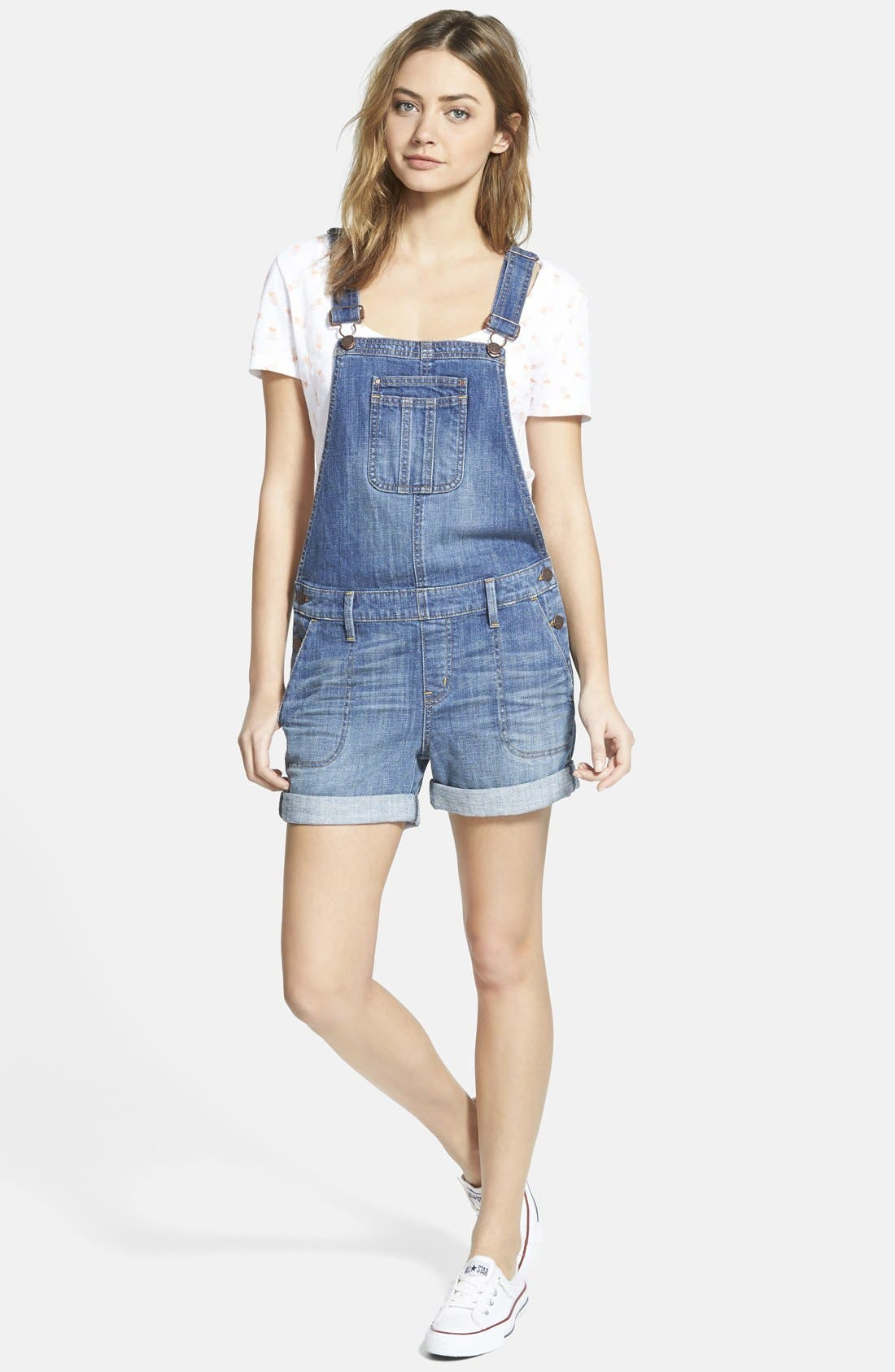 Treasure&Bond Short Overalls,                             Main thumbnail 1, color,                             400