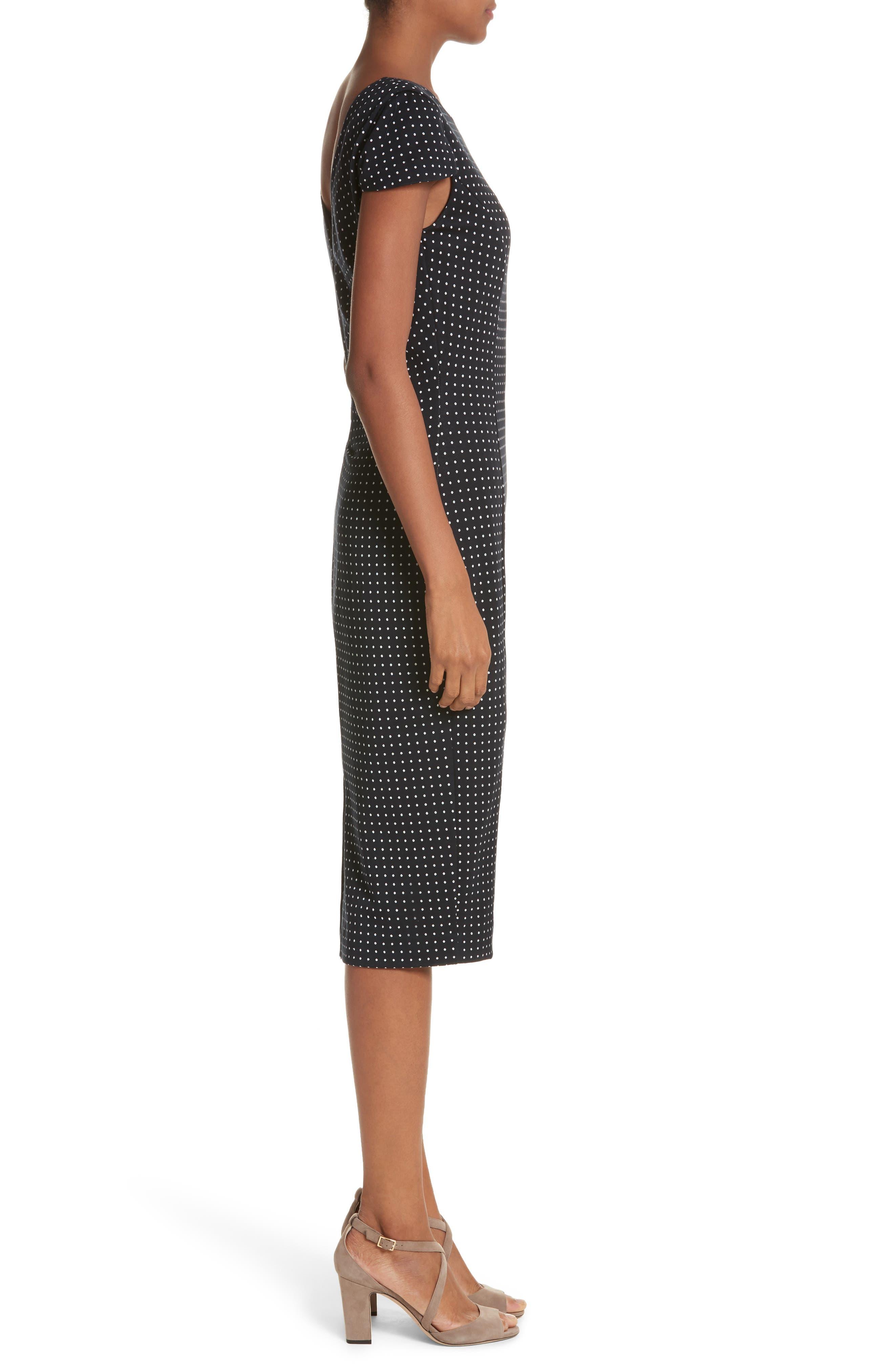 Cirino Polka Dot Sheath Dress,                             Alternate thumbnail 3, color,                             411