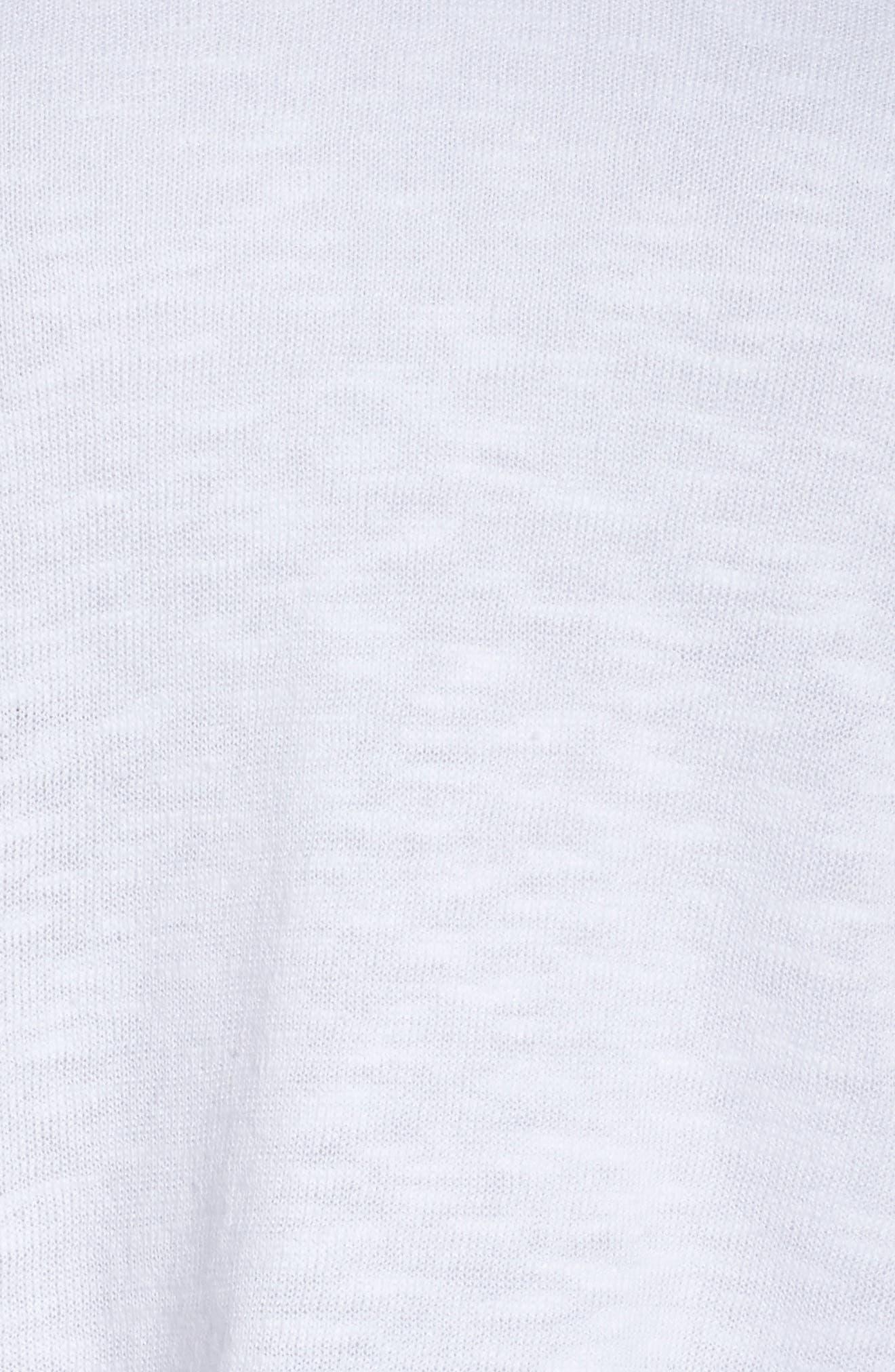 Boxy Organic Linen & Cotton Sweater,                             Alternate thumbnail 6, color,                             100
