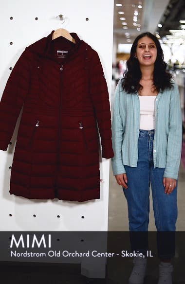 Stretch Quilted Walker Coat, sales video thumbnail