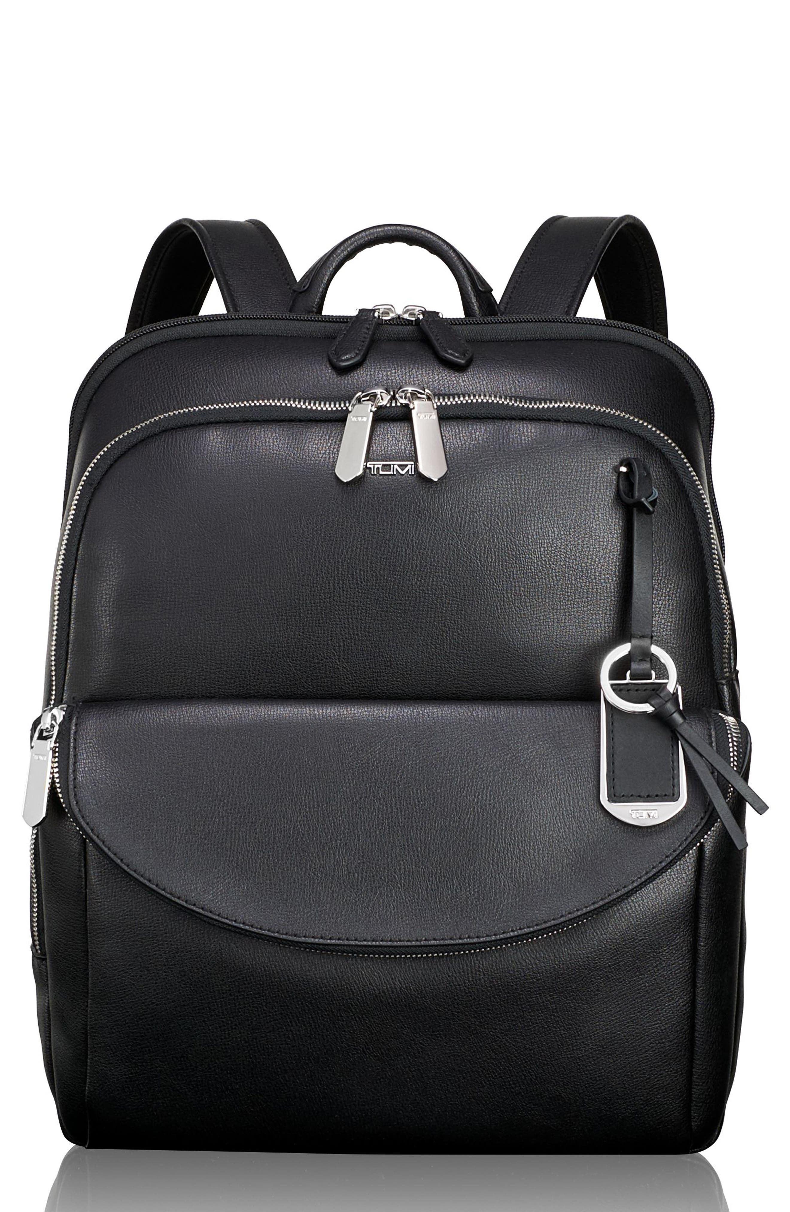 Stanton Hettie Leather Backpack,                         Main,                         color, 001