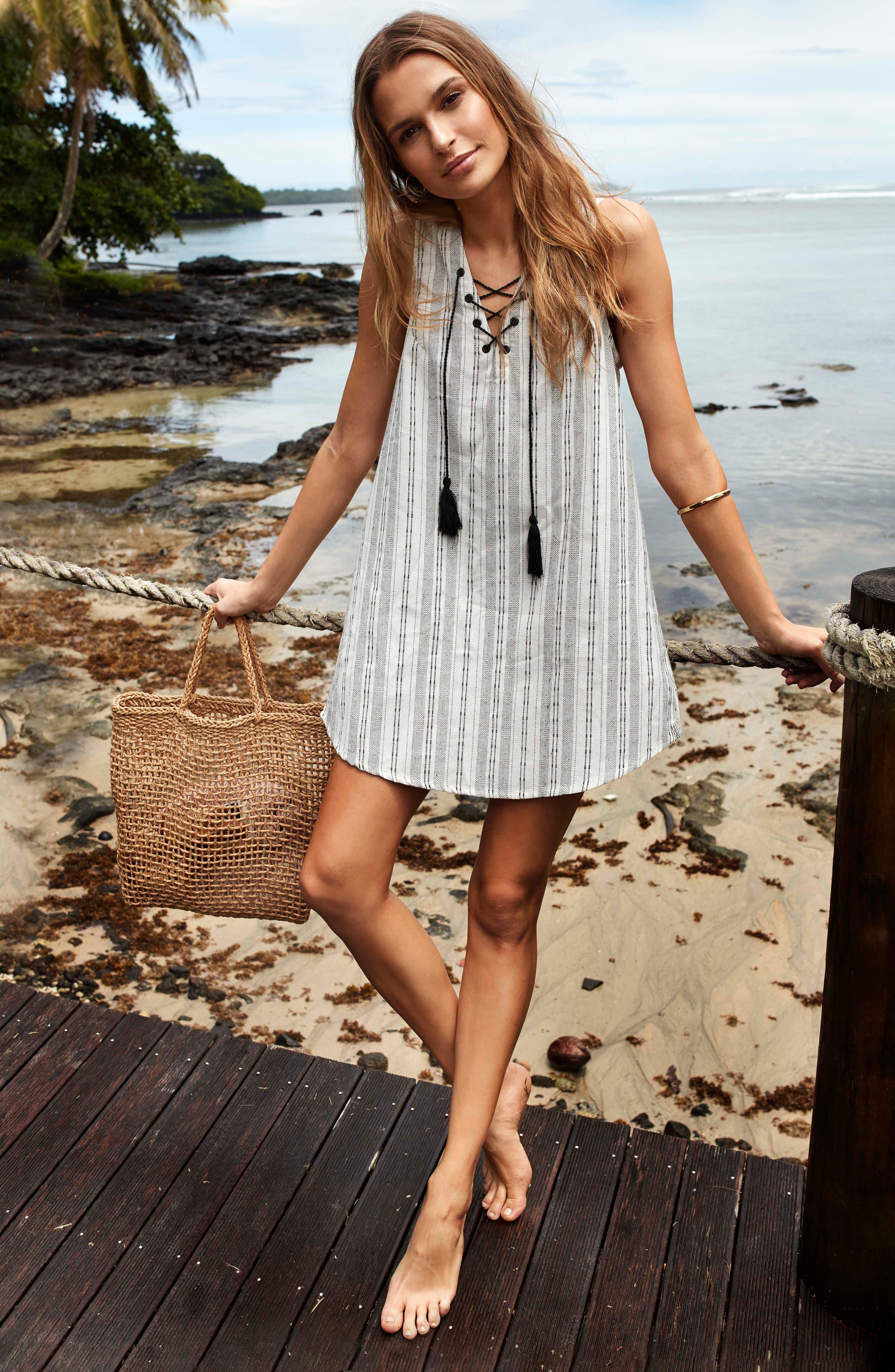 Panama Cover-Up Dress,                             Alternate thumbnail 4, color,