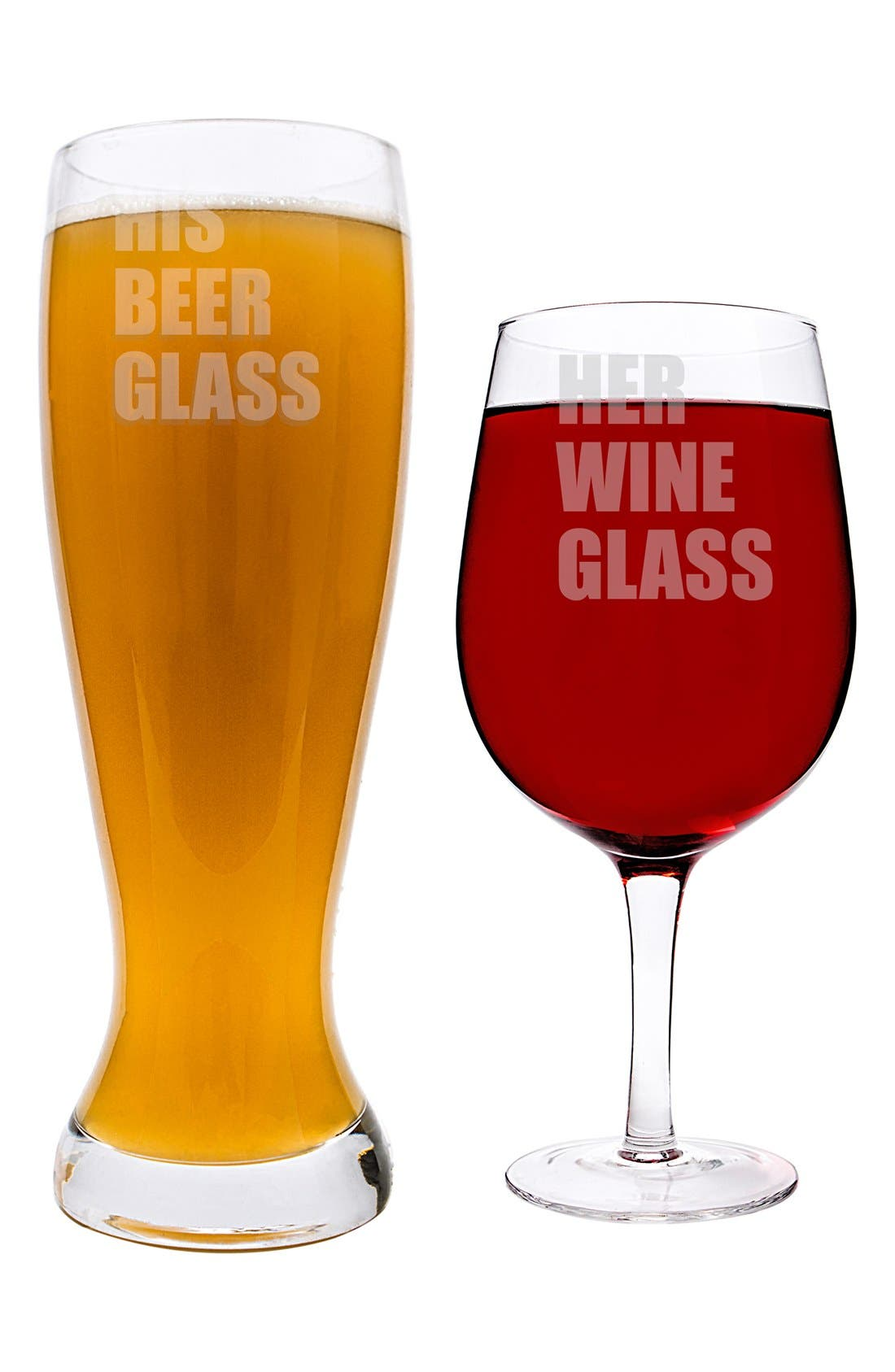 Cathy's Concept 'His & Hers' XL Beer & Wine Glass Set,                             Alternate thumbnail 3, color,                             100