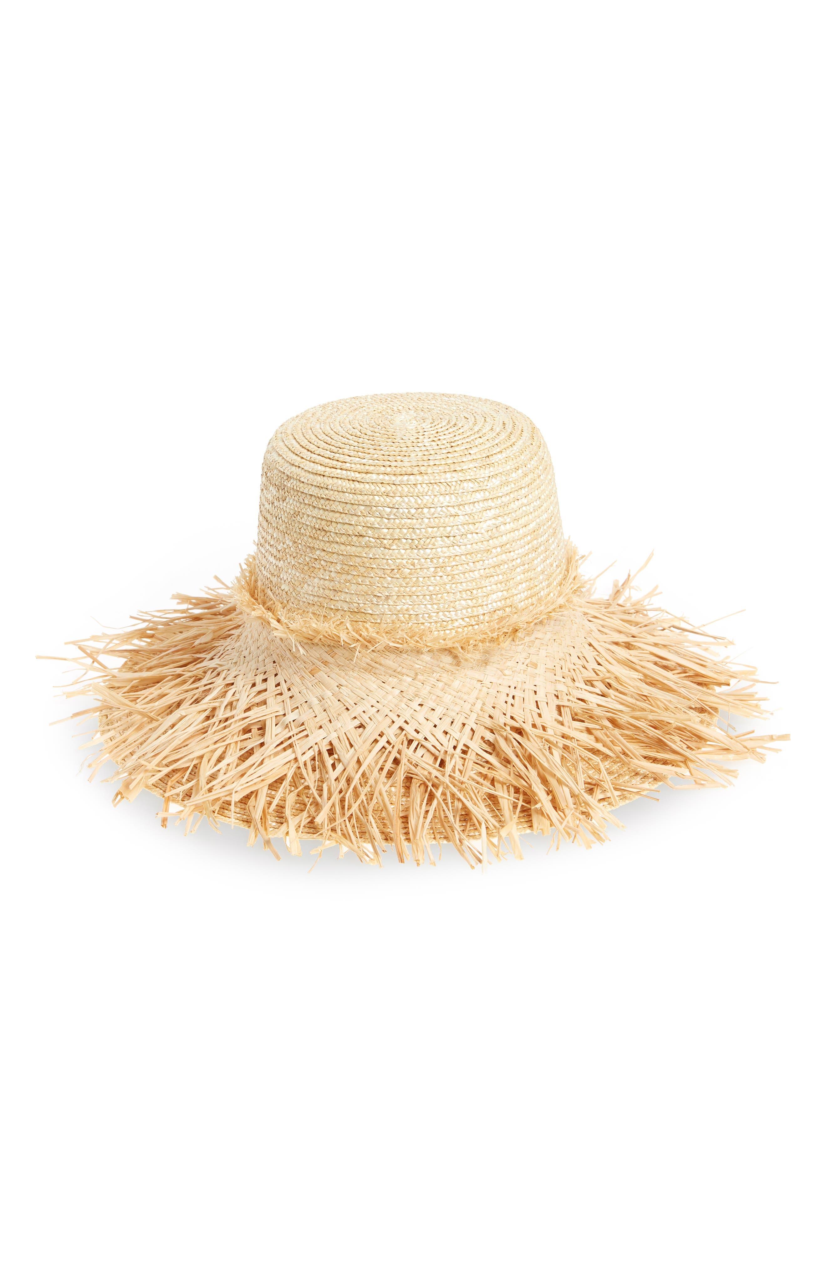 Hula Skirt Straw Hat,                         Main,                         color, 200
