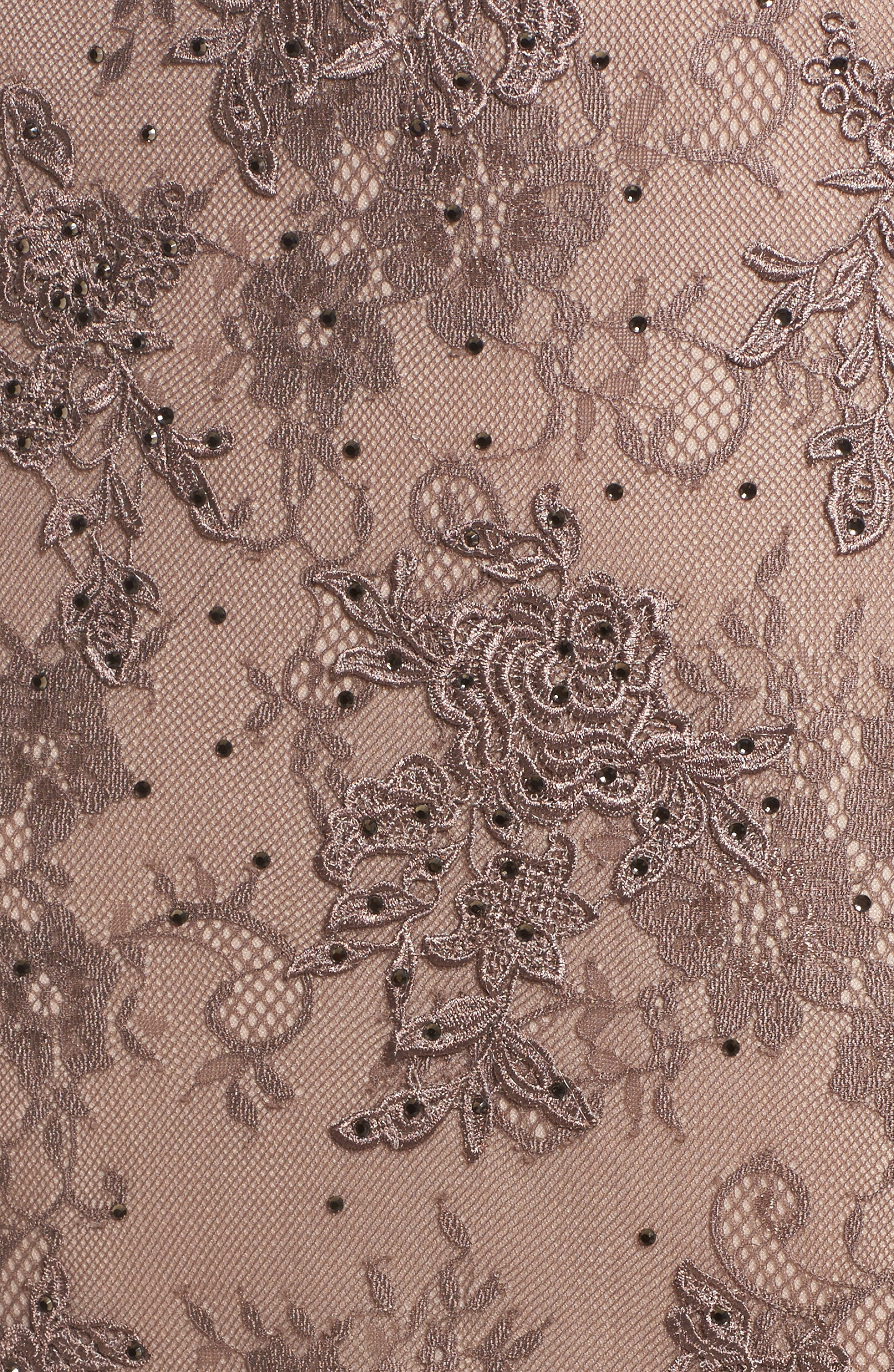 Off the Shoulder Lace Gown,                             Alternate thumbnail 5, color,                             COCOA