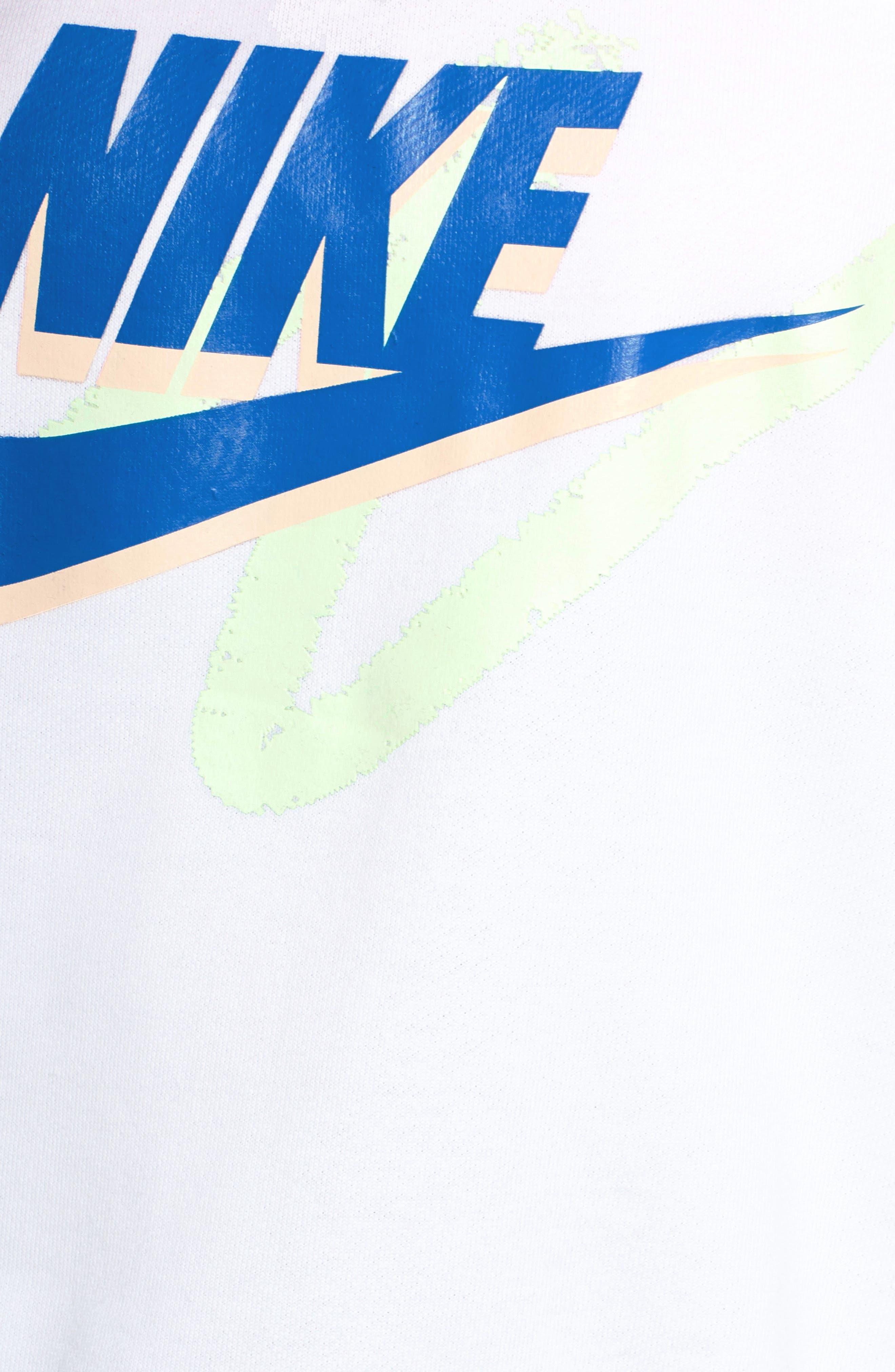 Sportswear Archive Women's Long Sleeve Crewneck Tee,                             Alternate thumbnail 8, color,                             WHITE/ WHITE/ WHITE
