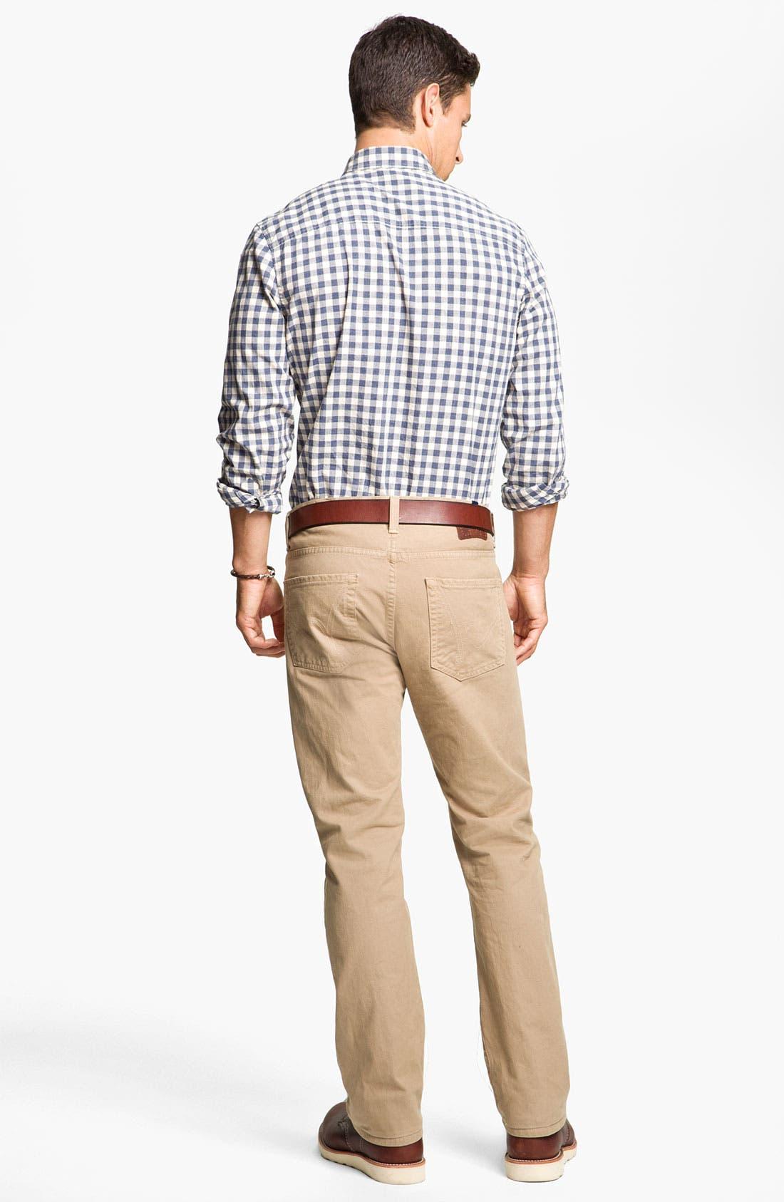 Wallin & Bros. Sport Shirt & Paige Slim Straight Leg Pants, Main, color, 400