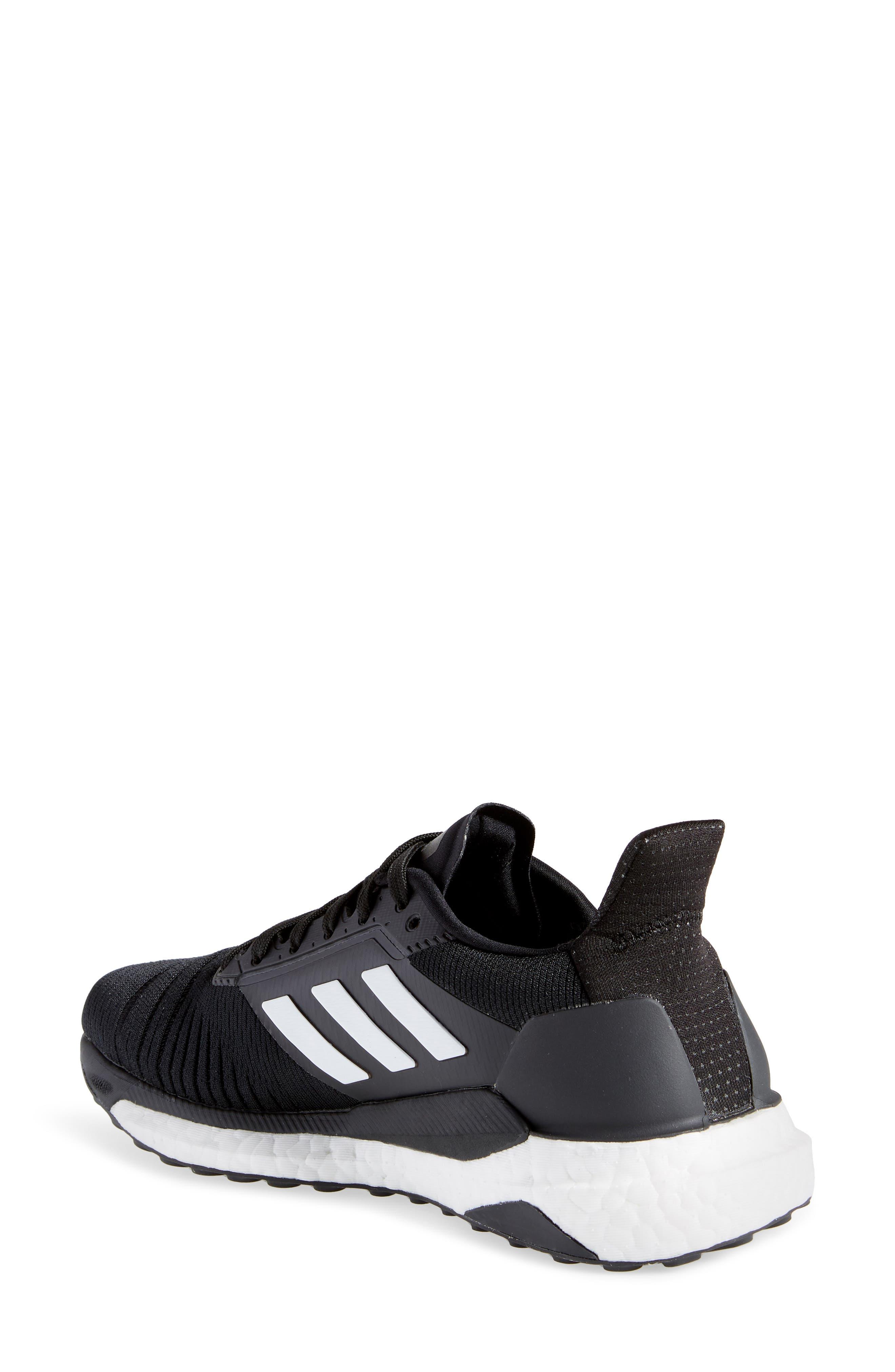Solar Glide Running Shoe,                             Alternate thumbnail 2, color,                             BLACK/ WHITE/ BLACK