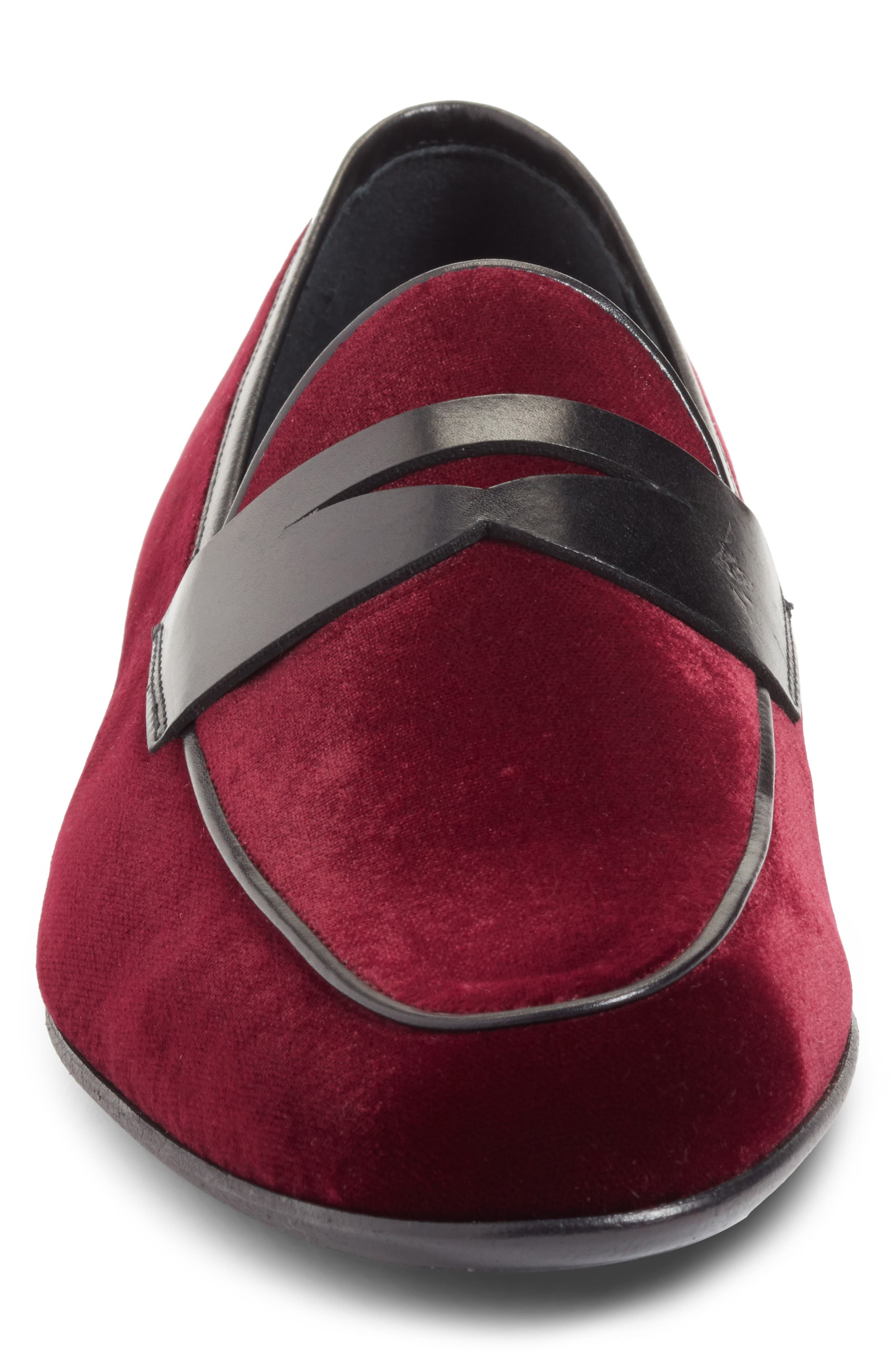 Dorado Penny Loafer,                             Alternate thumbnail 4, color,                             BURGUNDY