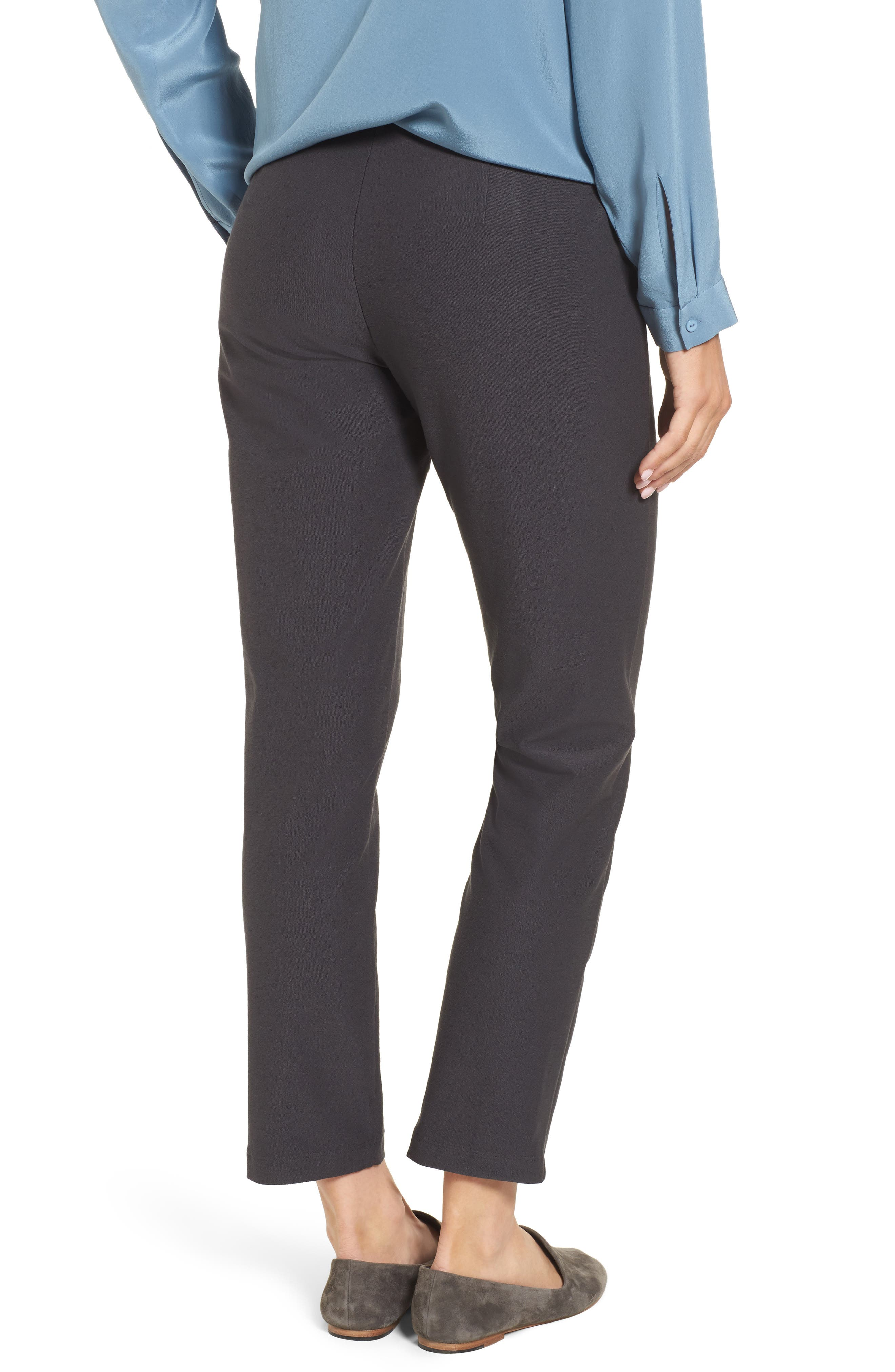 Stretch Crepe Ankle Pants,                             Alternate thumbnail 3, color,                             025