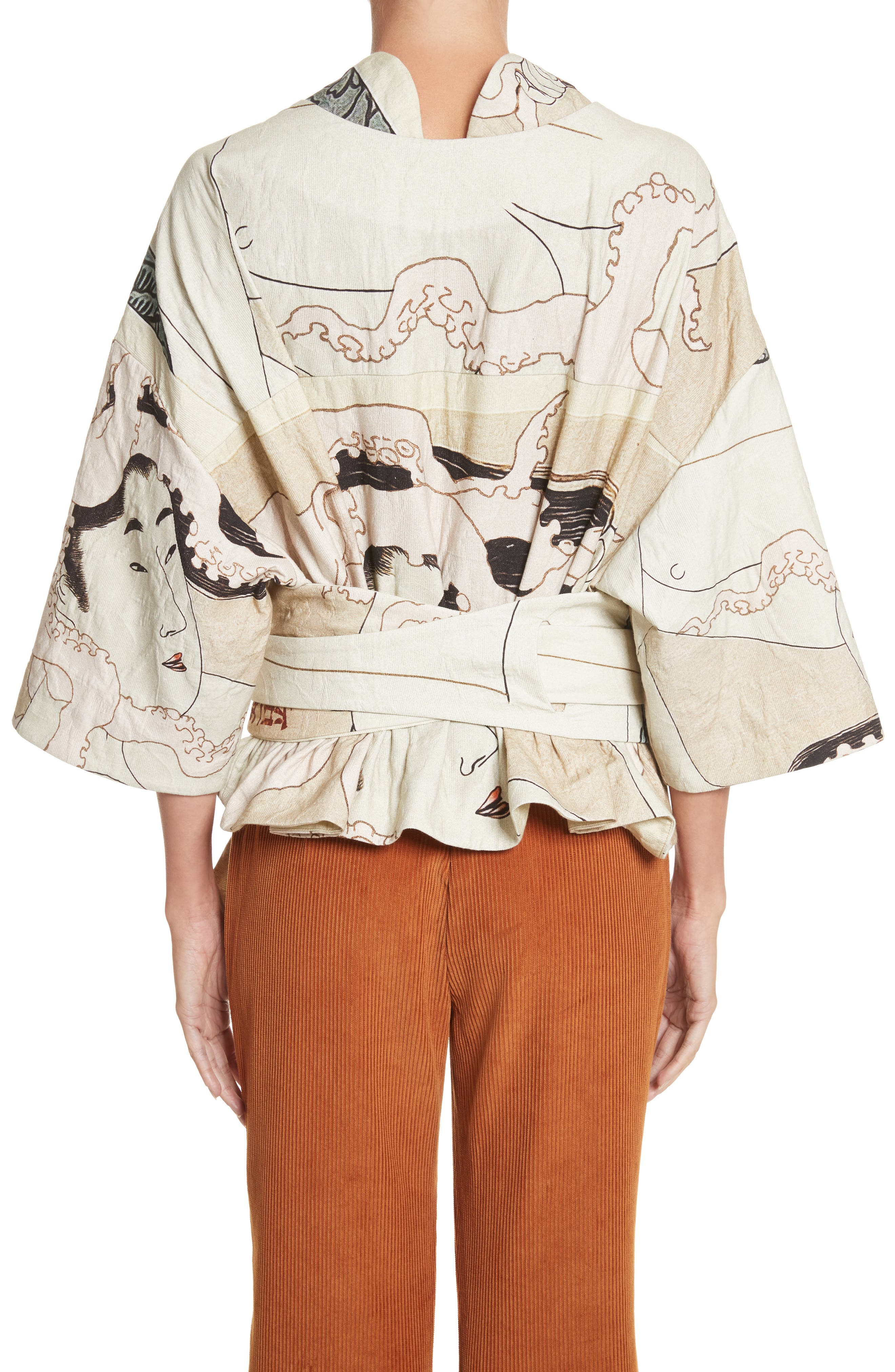 Printed Kimono Bomber Jacket,                             Alternate thumbnail 2, color,                             250