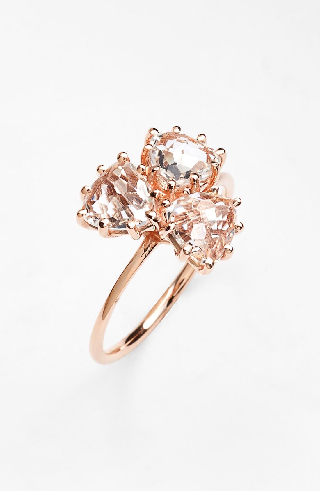 KALAN by Suzanne Kalan Triple Trillion Stone Ring,                             Main thumbnail 1, color,
