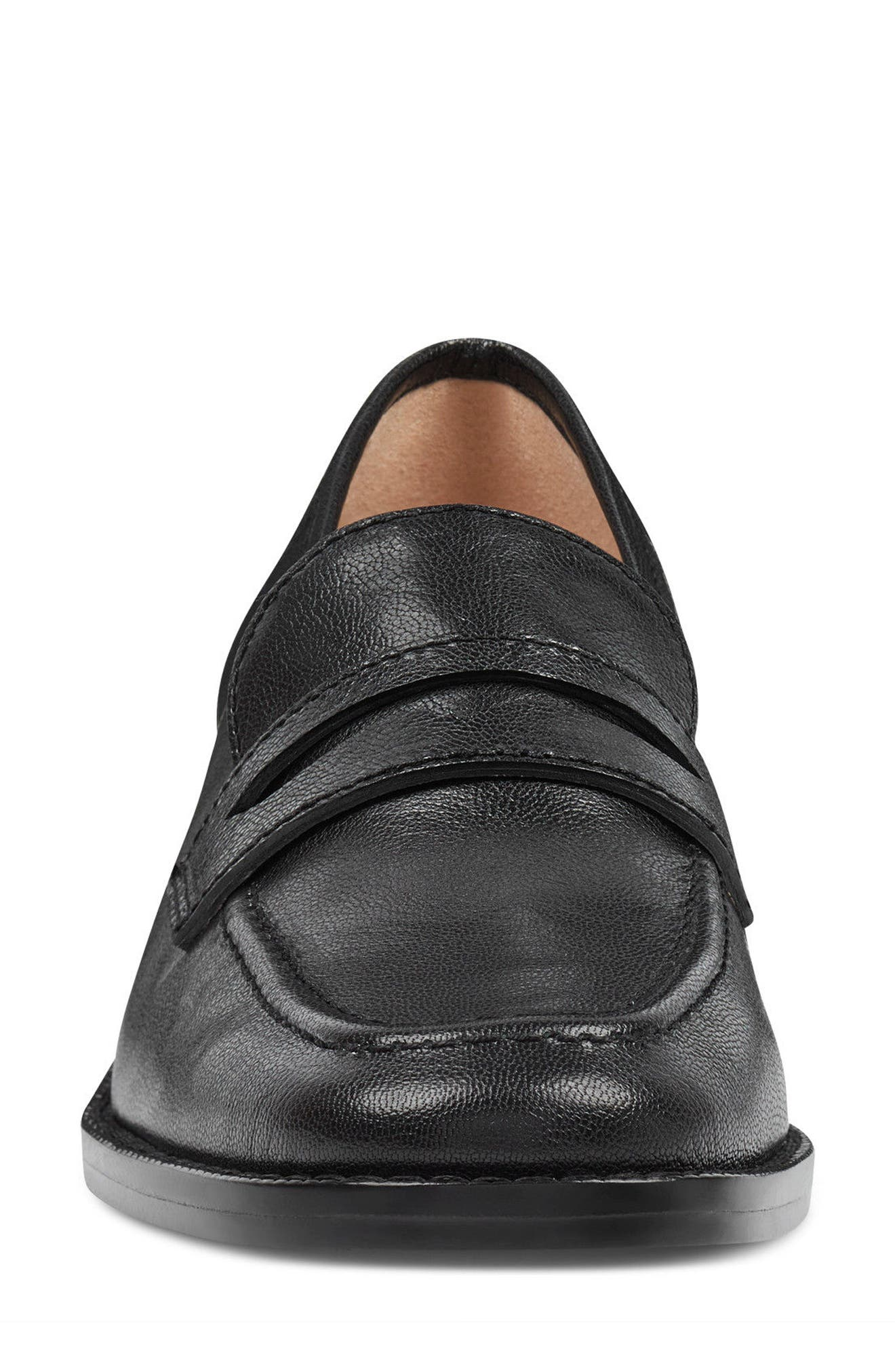 Kimmy - 40th Anniversary Capsule Collection Penny Loafer,                             Alternate thumbnail 4, color,                             BLACK LEATHER