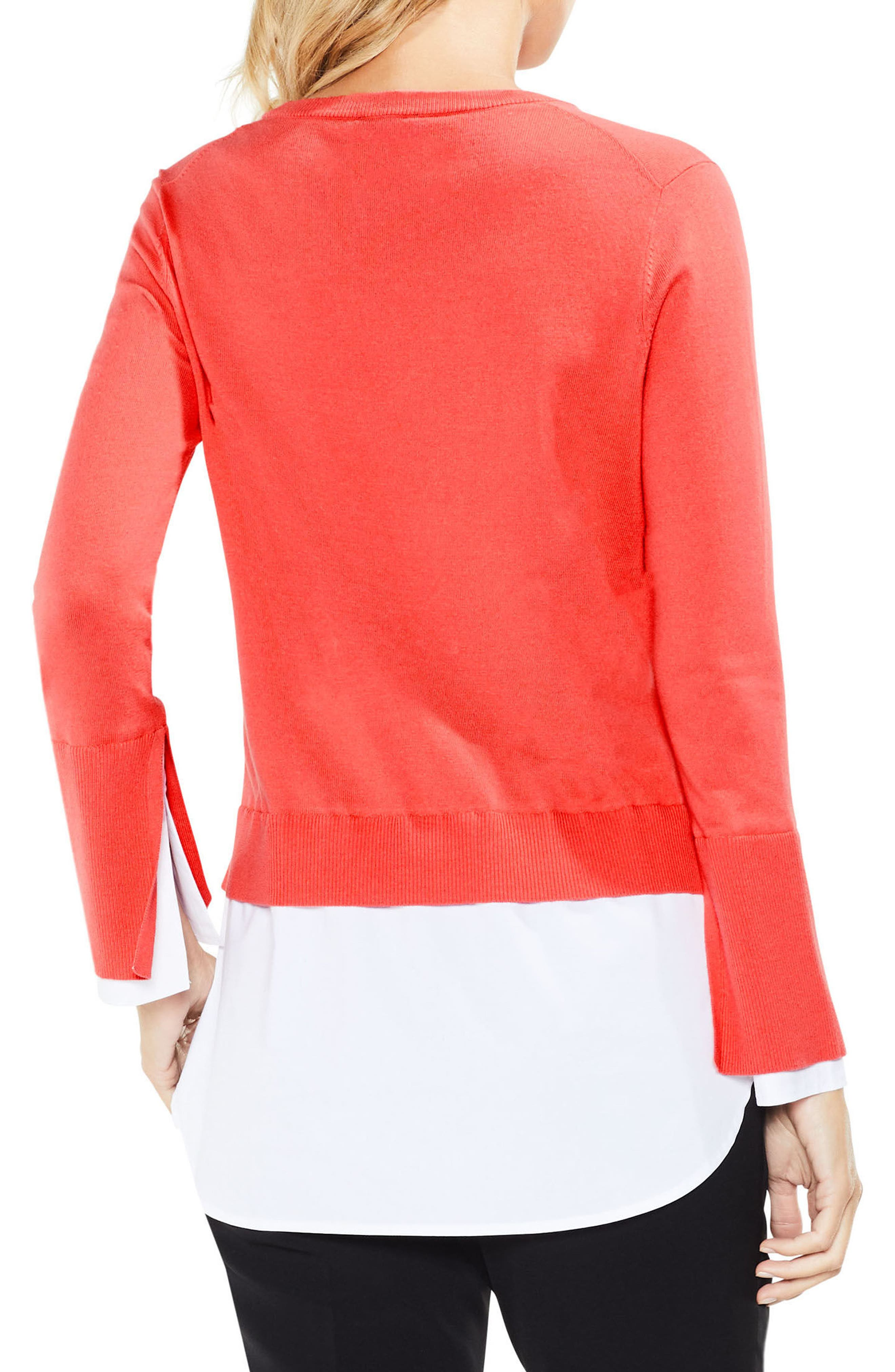 Layered Look Sweater,                             Alternate thumbnail 6, color,