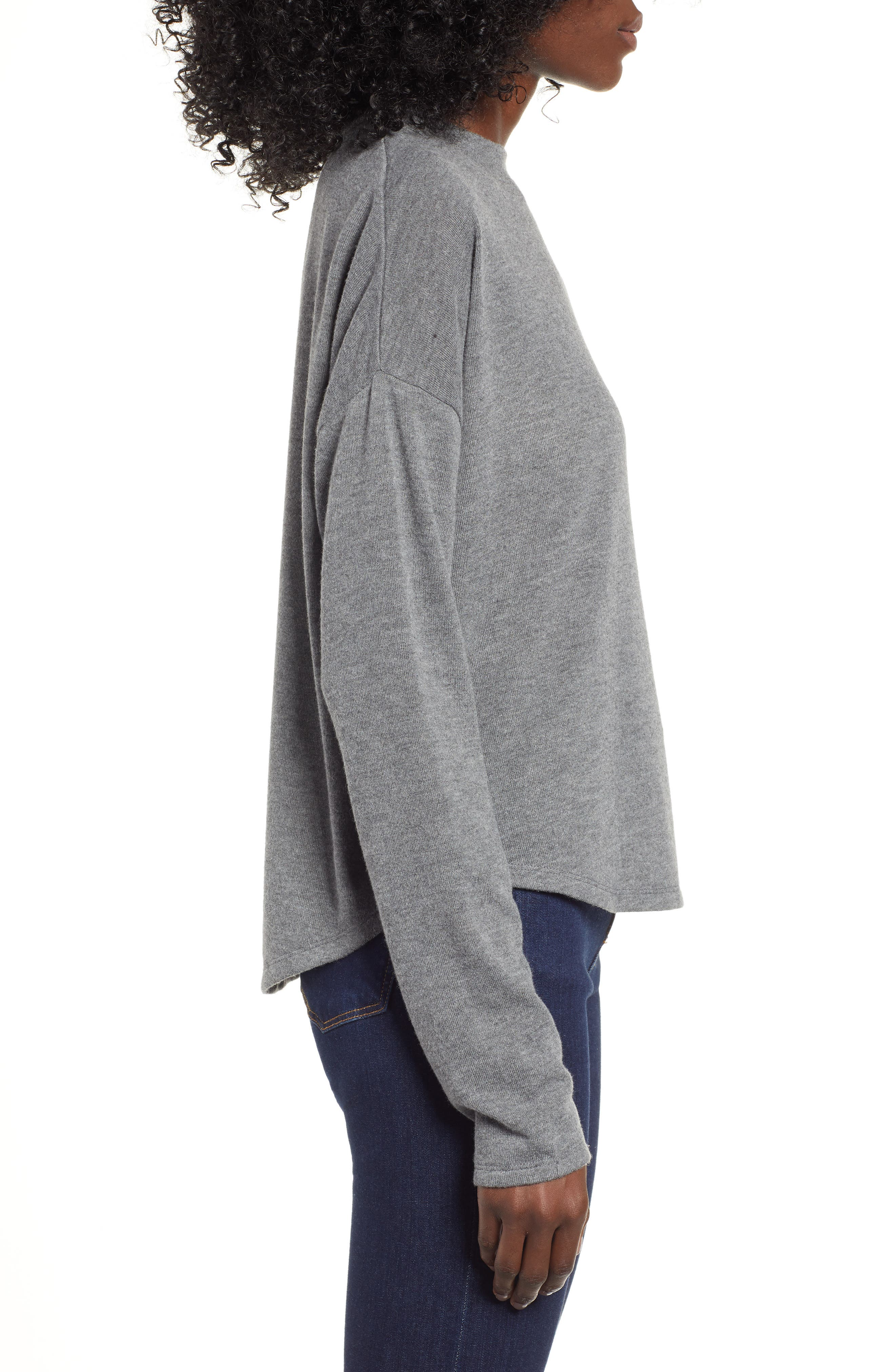 Drop Shoulder Tee,                             Alternate thumbnail 3, color,                             GREY CHARCOAL HEATHER