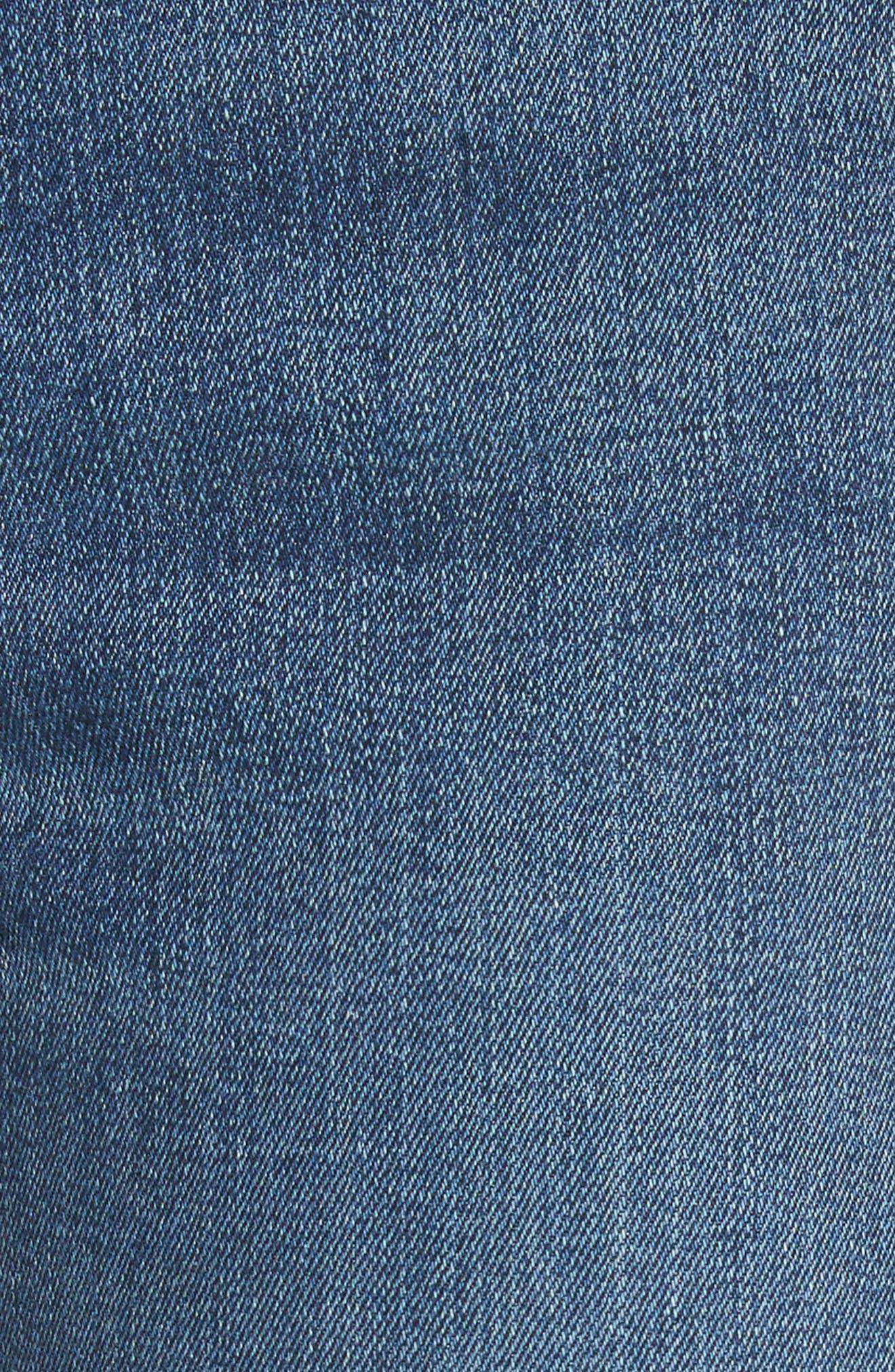 Kate Crop Skinny Jeans,                             Alternate thumbnail 5, color,                             400