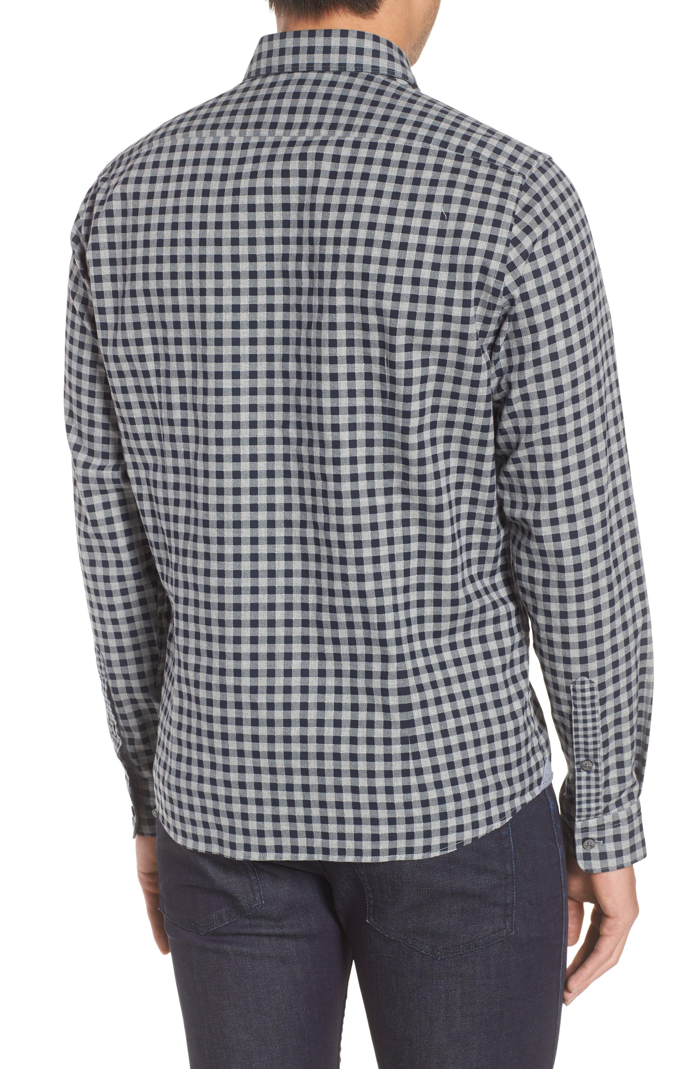 Lance Regular Fit Gingham Sport Shirt,                             Alternate thumbnail 2, color,                             410