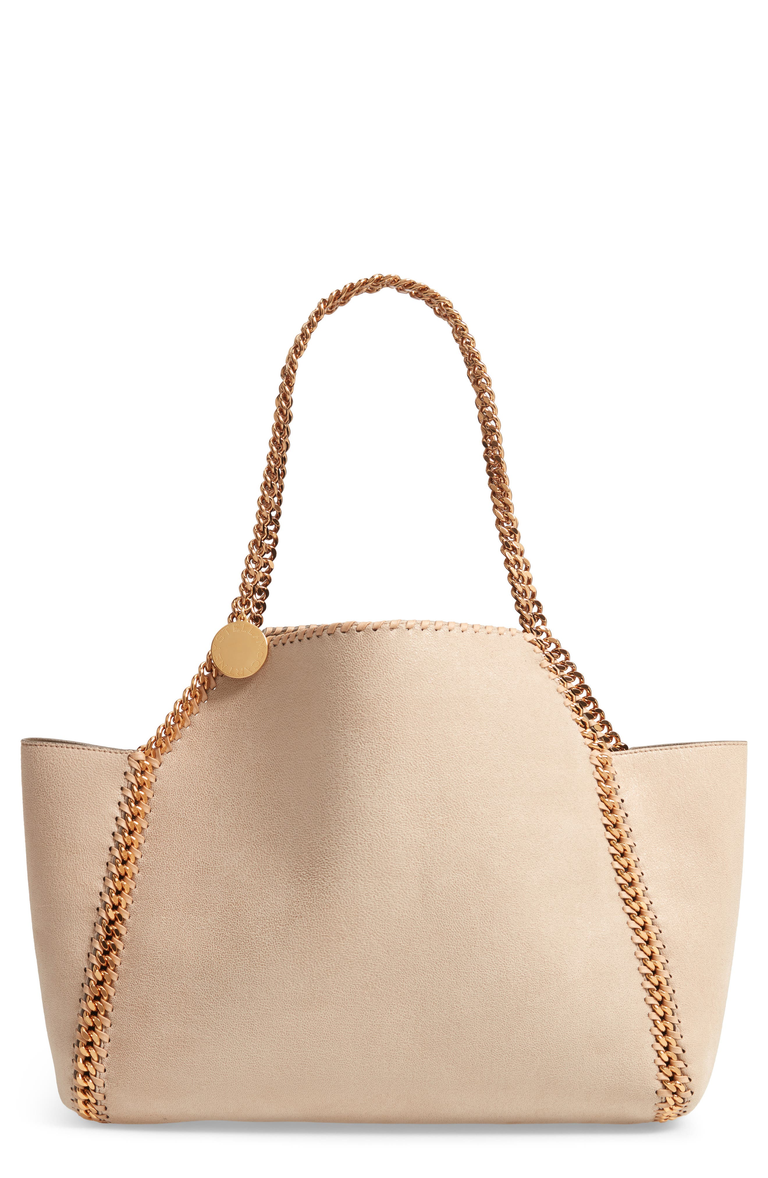 Shaggy Deer Reversible Faux Leather Tote,                         Main,                         color, CLOTTED CREAM