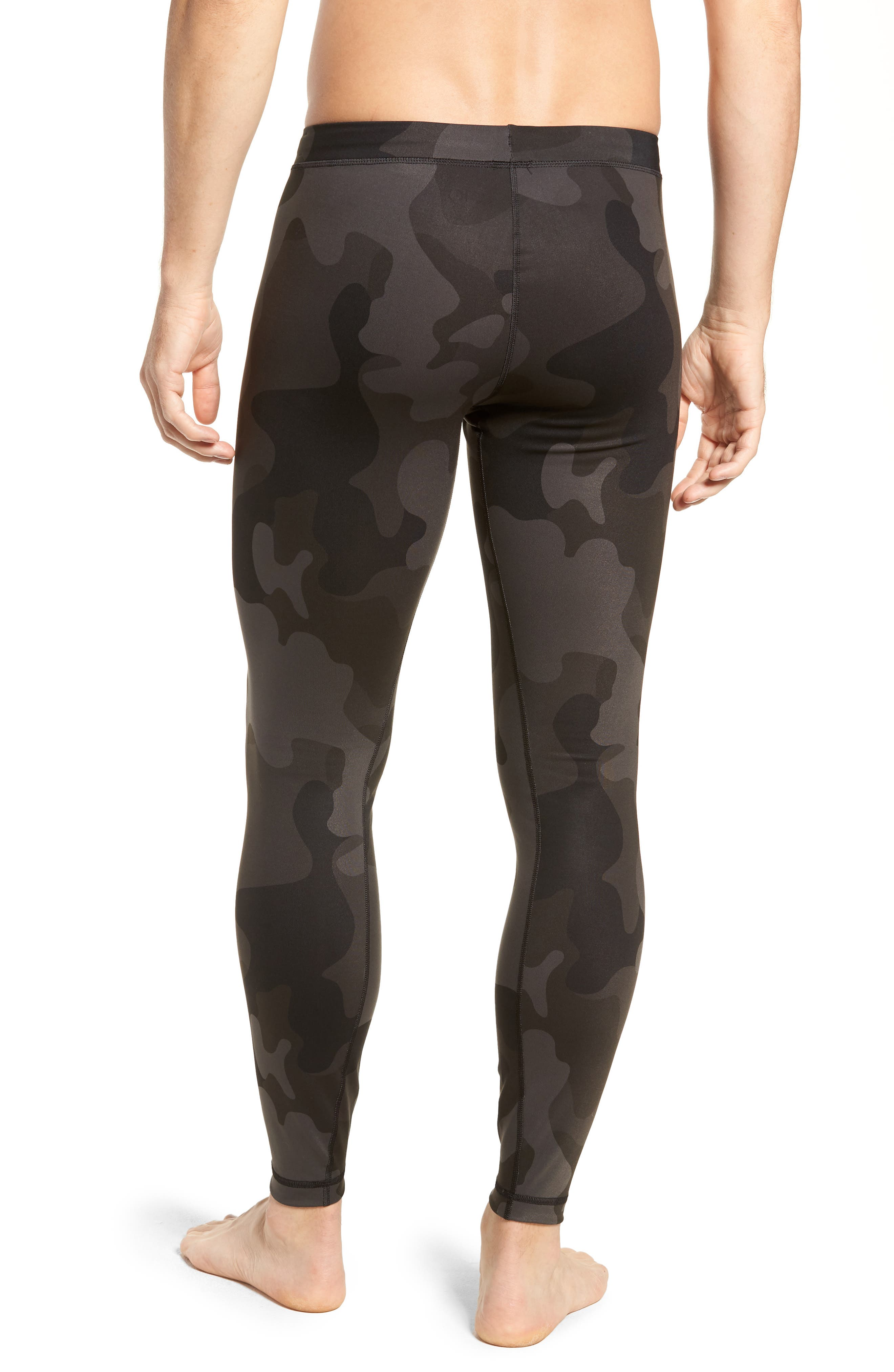 Warror Compression Tights,                             Alternate thumbnail 2, color,                             ONYX CAMO