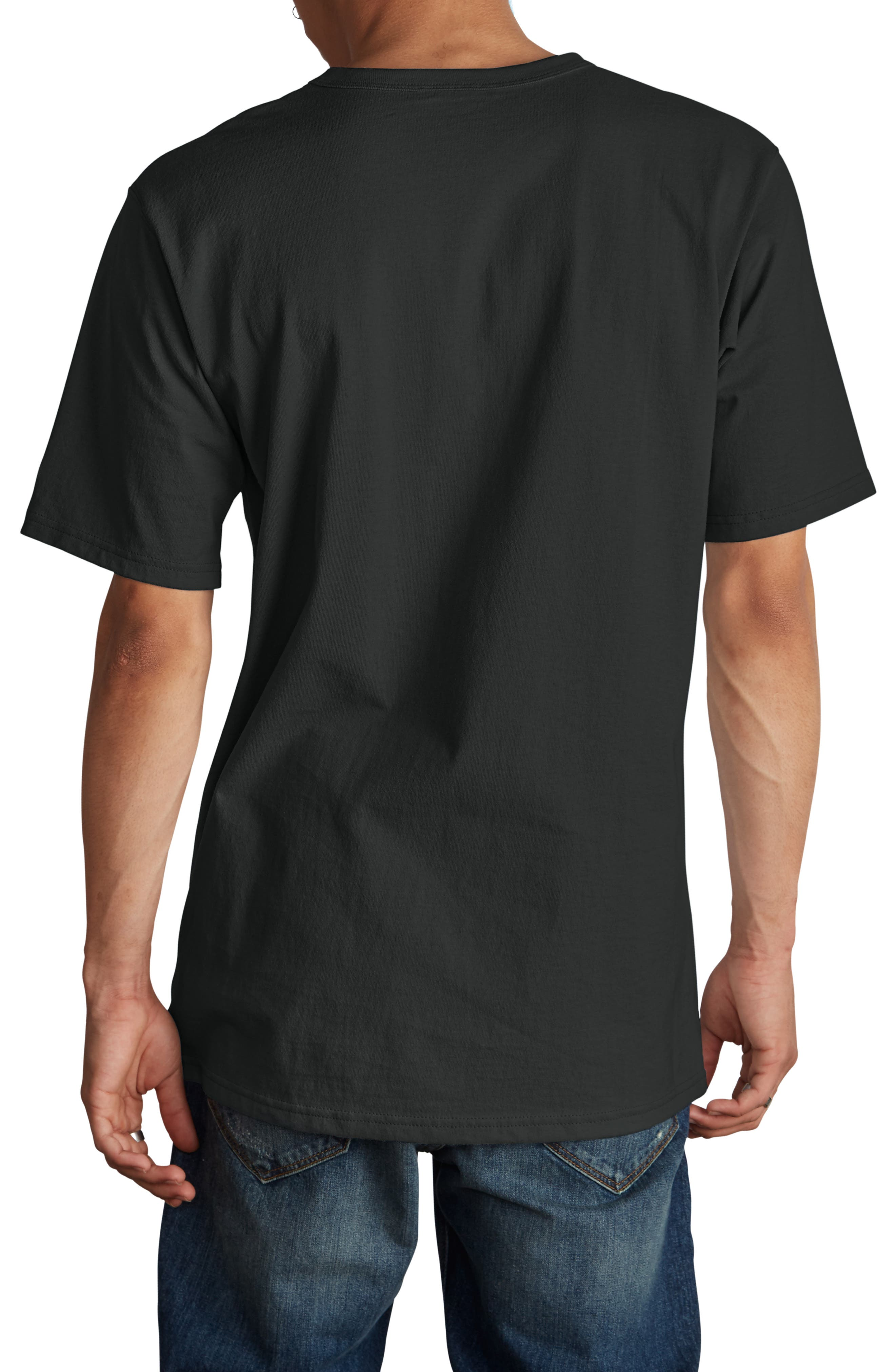 Elevated C-Patch T-Shirt,                             Alternate thumbnail 2, color,                             BLACK