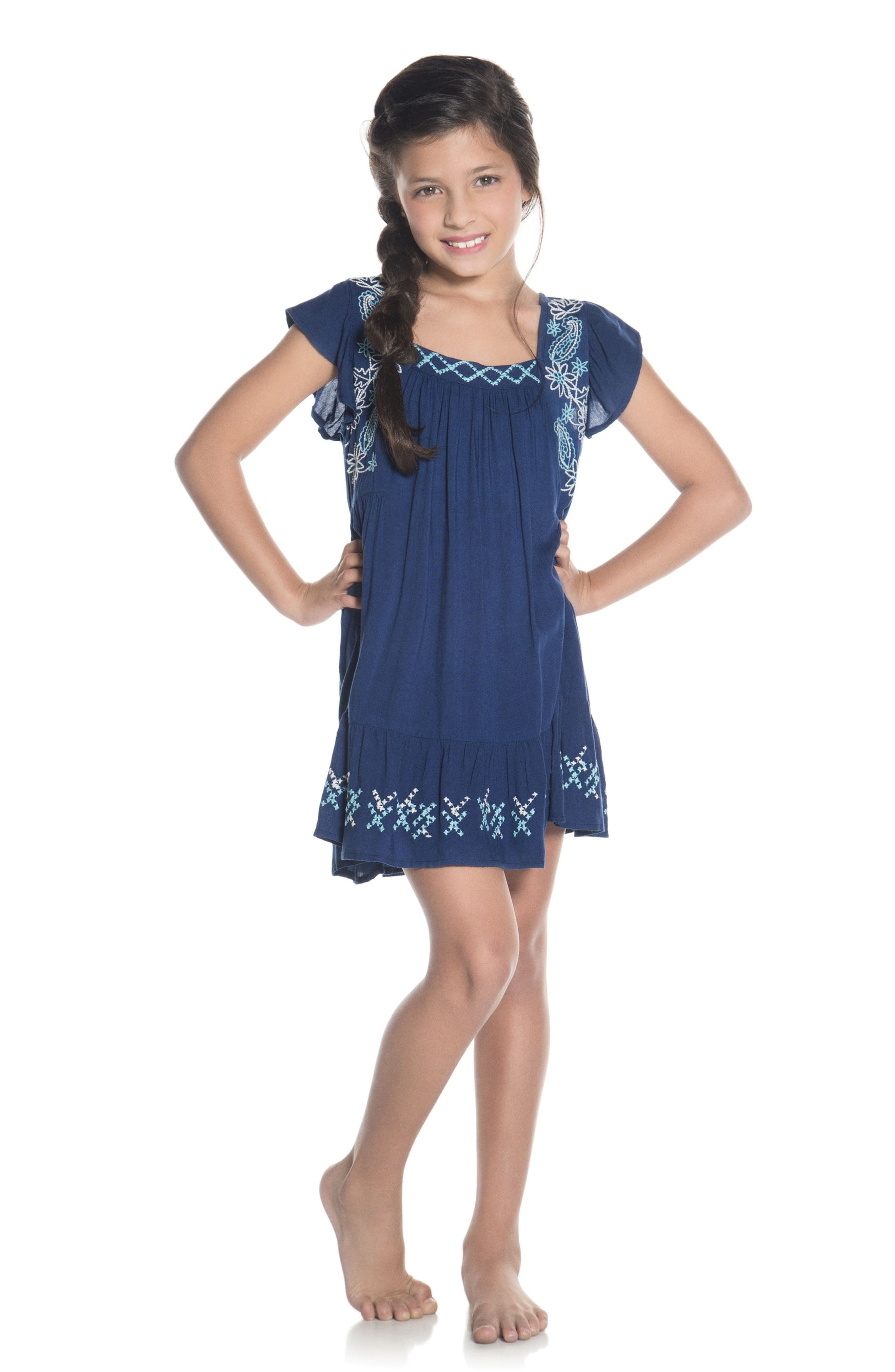 Lotto Cover-Up Dress,                             Alternate thumbnail 3, color,                             400