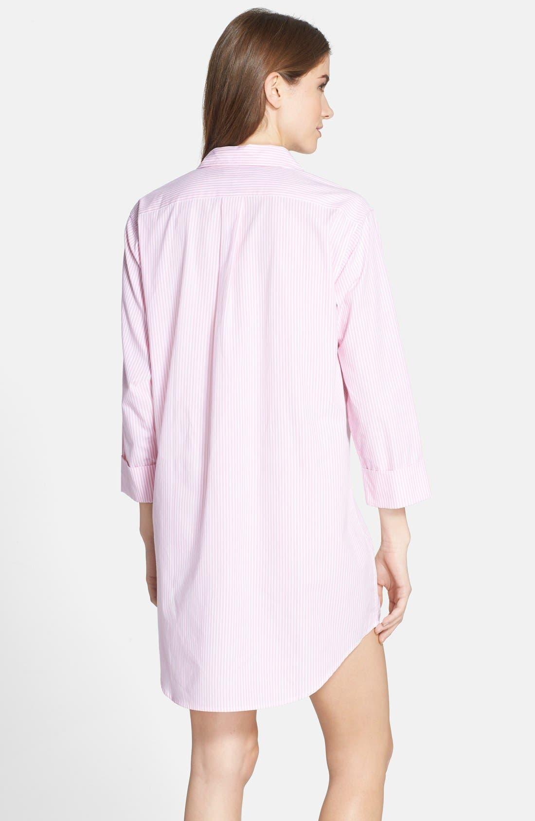 Cotton Poplin Sleep Shirt,                             Alternate thumbnail 16, color,