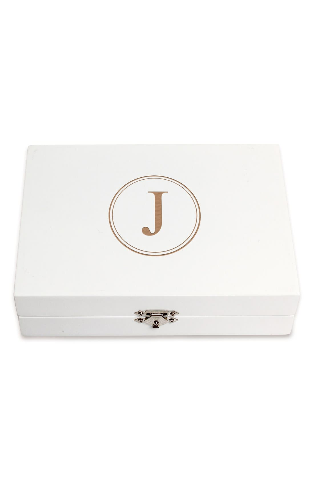Monogram Wooden Jewelry Box,                             Main thumbnail 39, color,