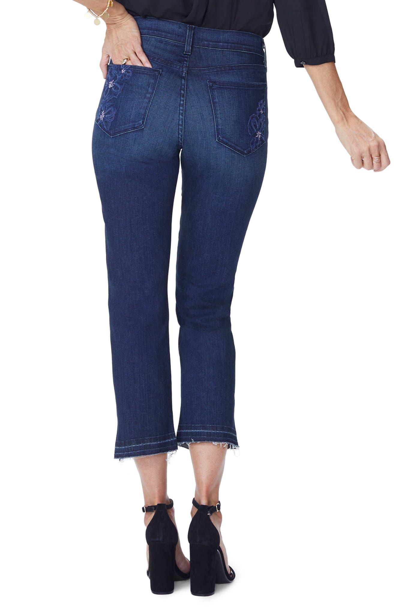Marilyn Release Hem Crop Straight Leg Jeans,                             Alternate thumbnail 2, color,