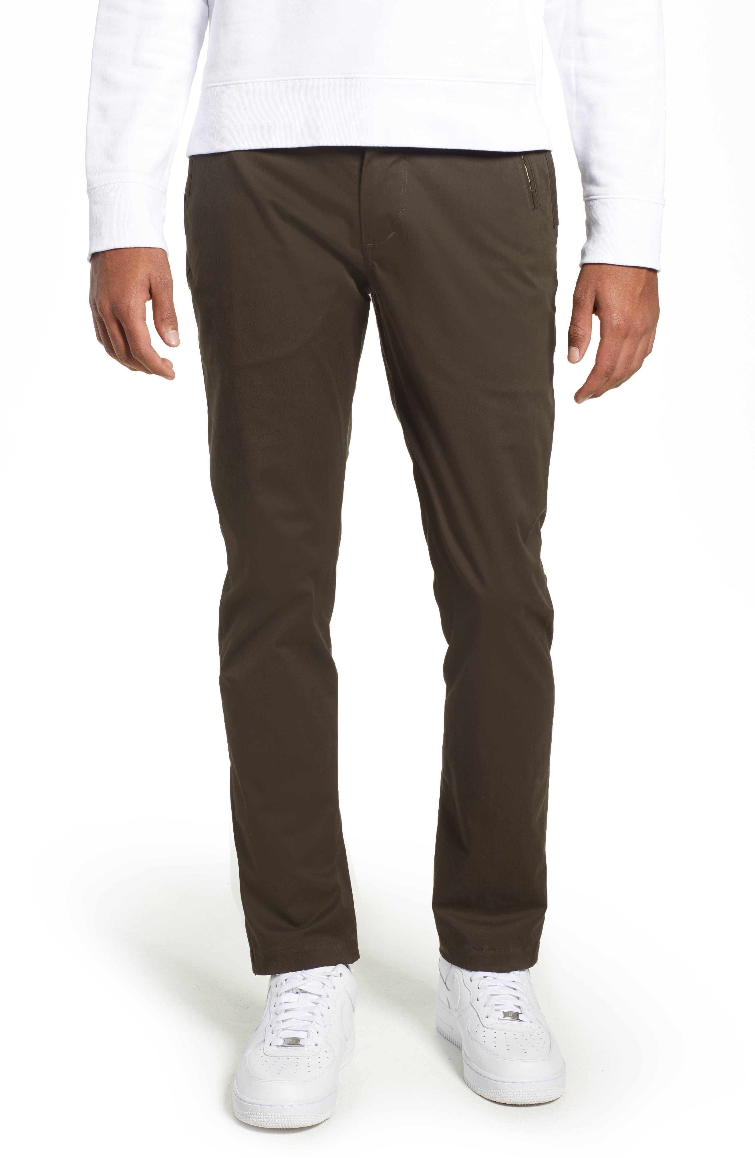 Run Gun Slim Fit Stretch Pants,                         Main,                         color, DARK GREEN