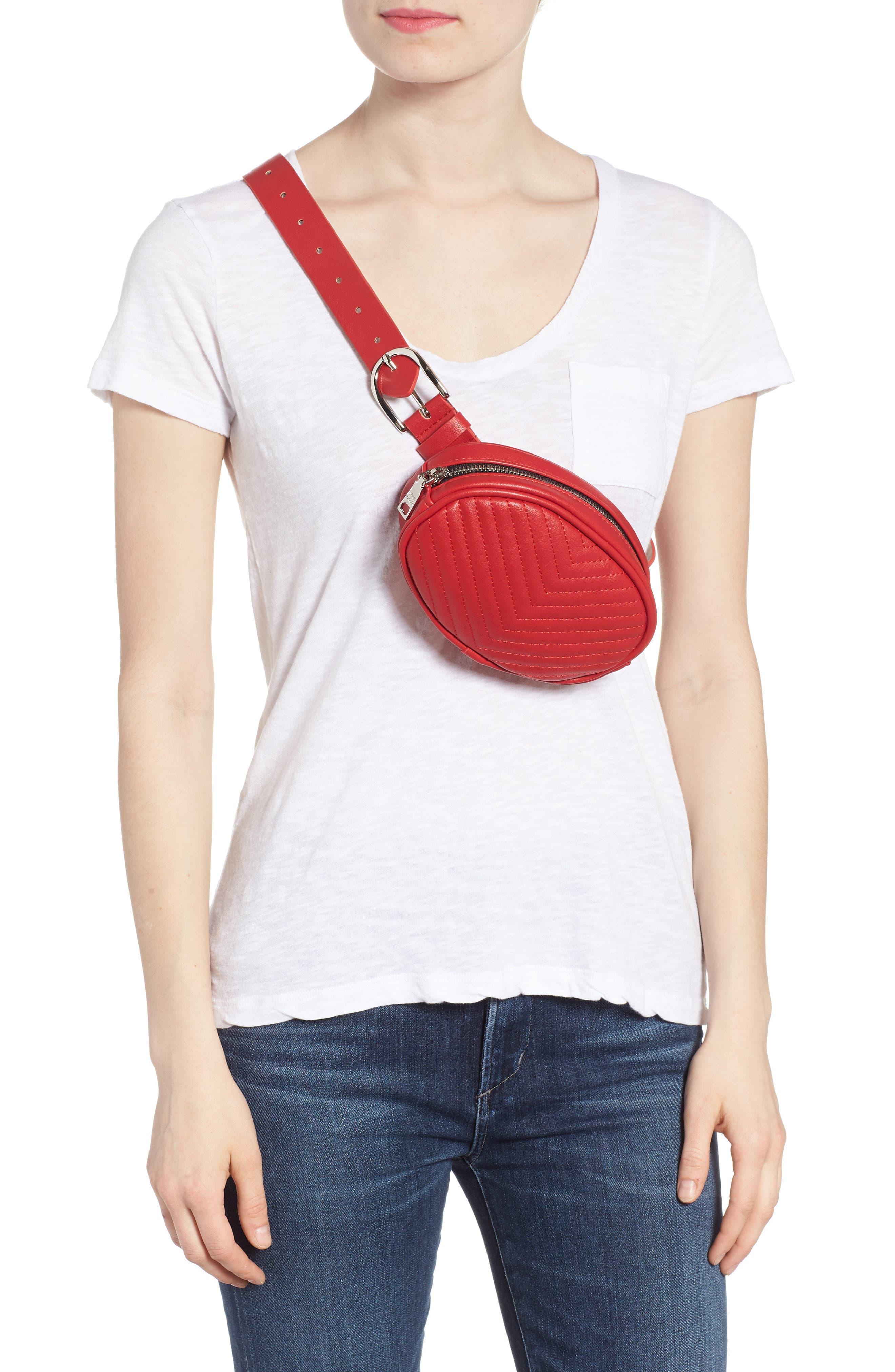 Quilted Belt Bag,                             Alternate thumbnail 6, color,