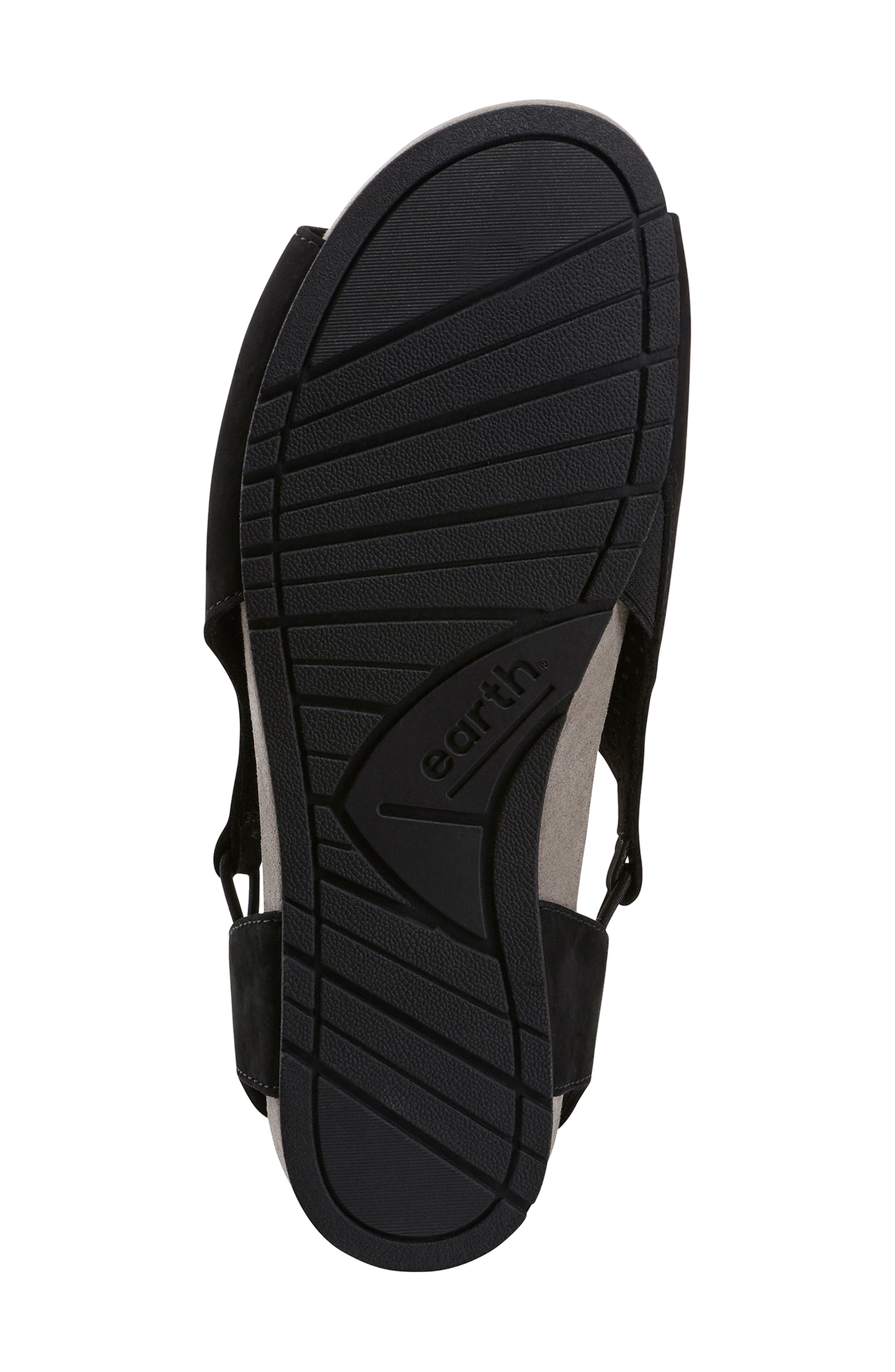 EARTH<SUP>®</SUP>,                             Laveen Sandal,                             Alternate thumbnail 6, color,                             BLACK LEATHER