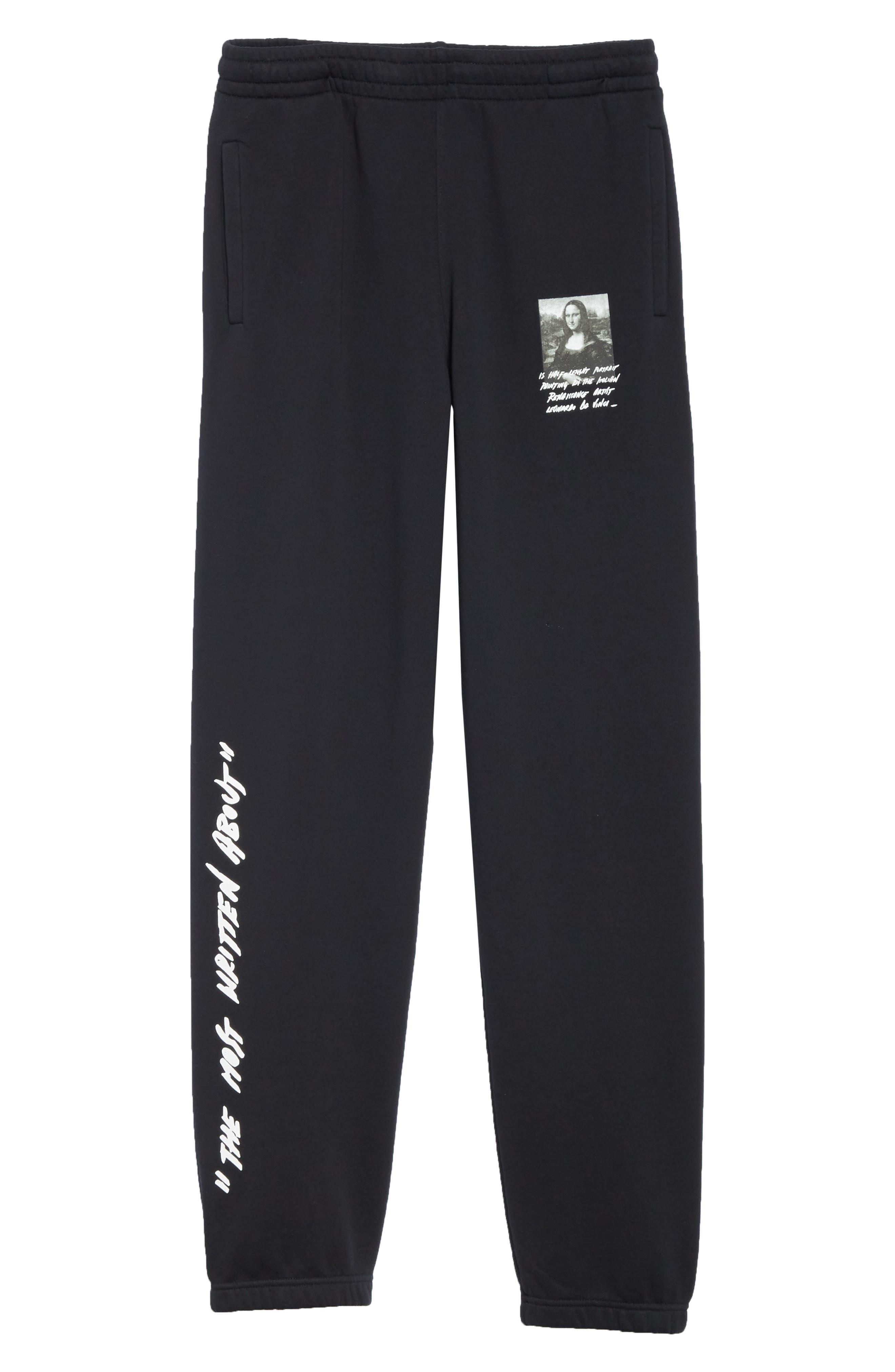 Monnalisa Slim Sweatpants,                             Alternate thumbnail 6, color,                             BLACK