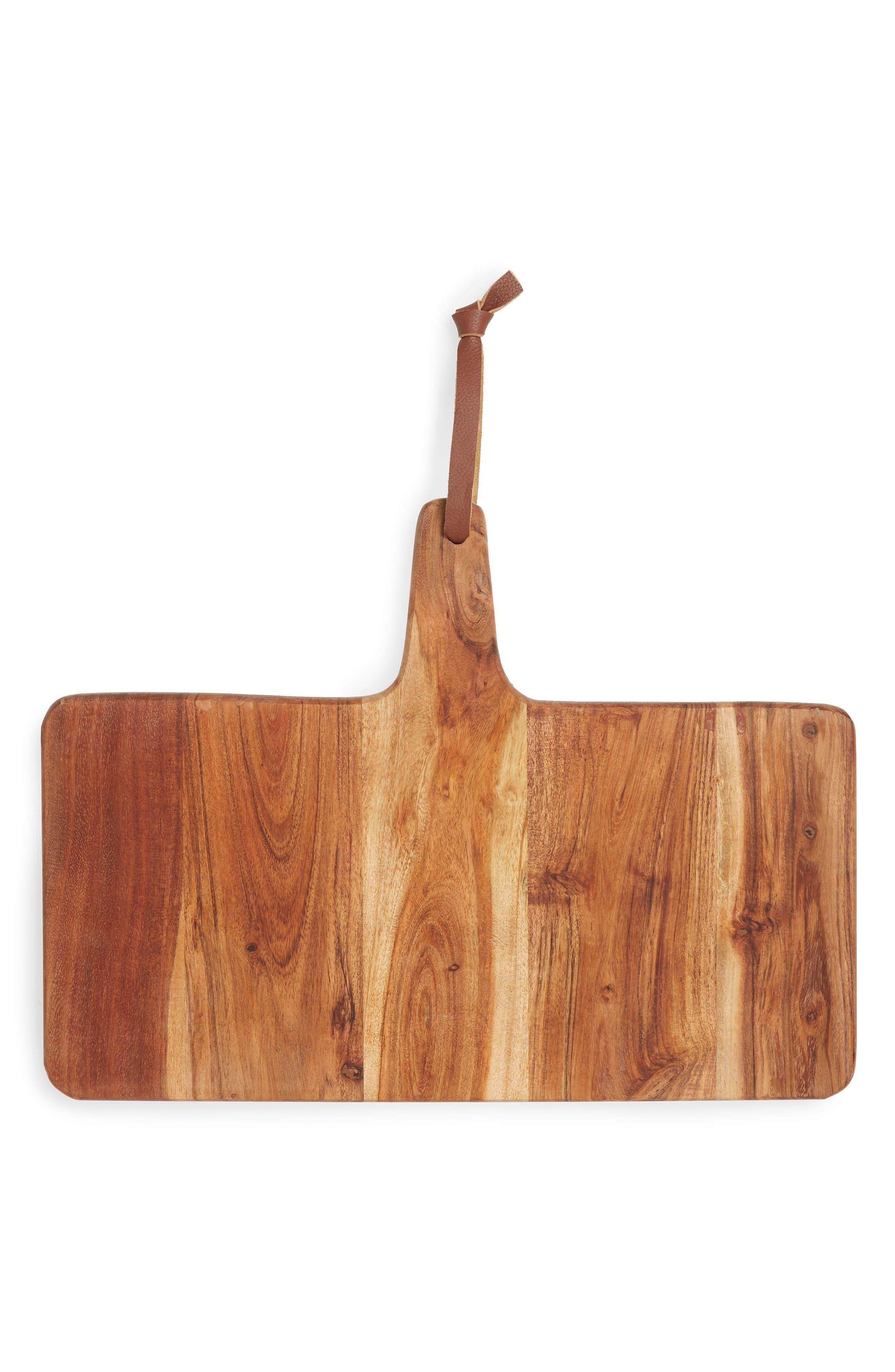 Acacia Wood Cheese Paddle,                             Main thumbnail 1, color,                             BROWN