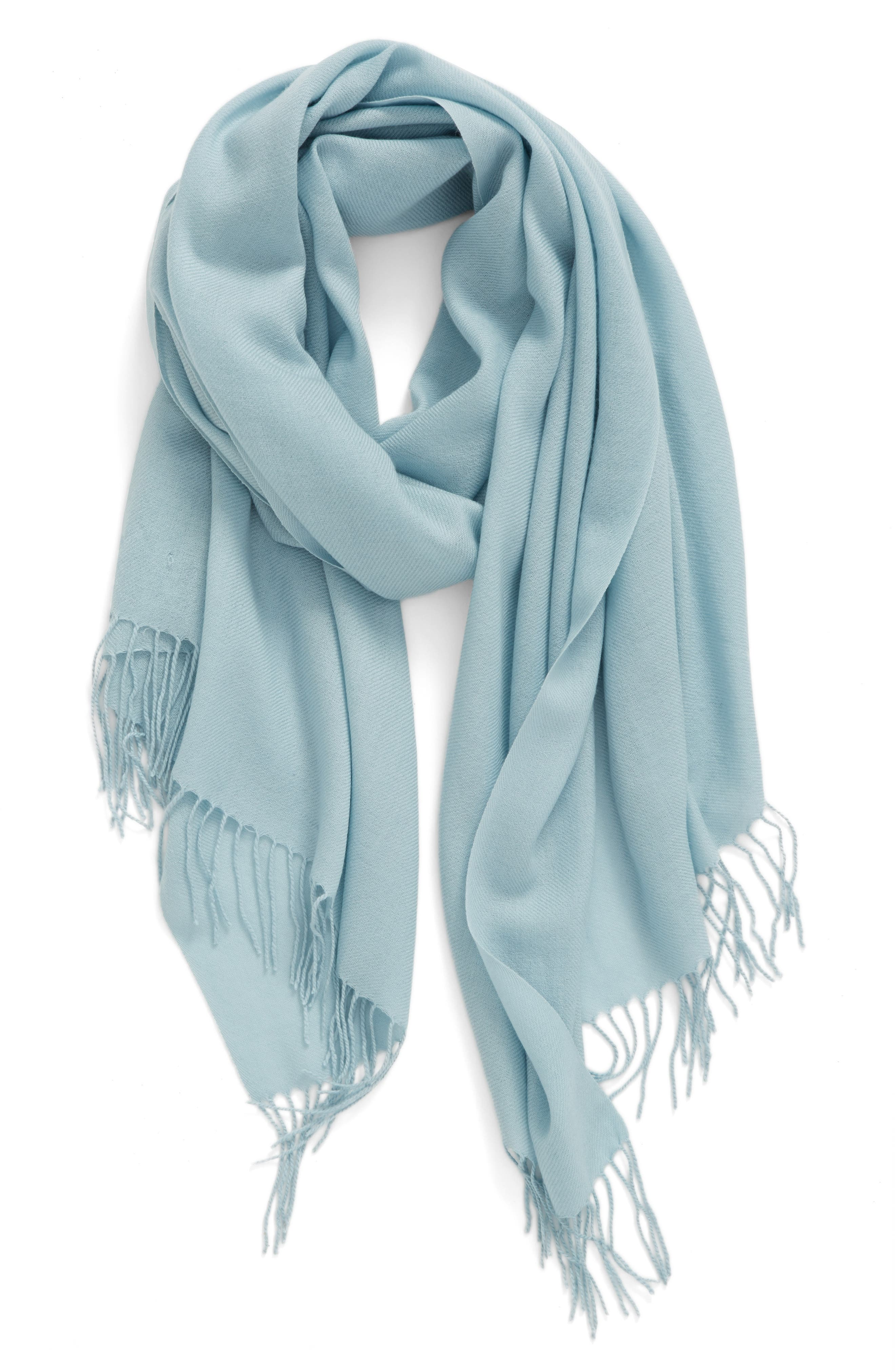 Tissue Weight Wool & Cashmere Scarf,                             Main thumbnail 30, color,