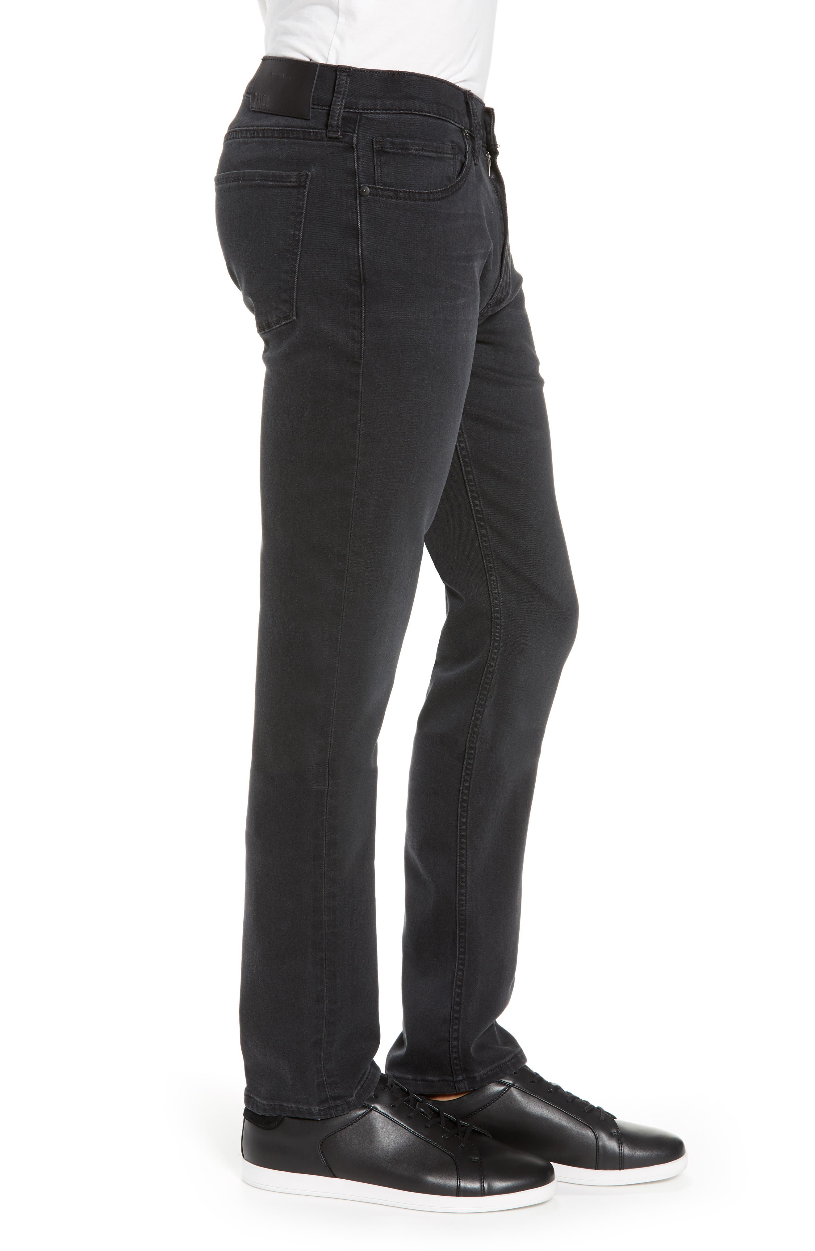 Transcend Lennox Slim Fit Jeans,                             Alternate thumbnail 3, color,                             KNOLL
