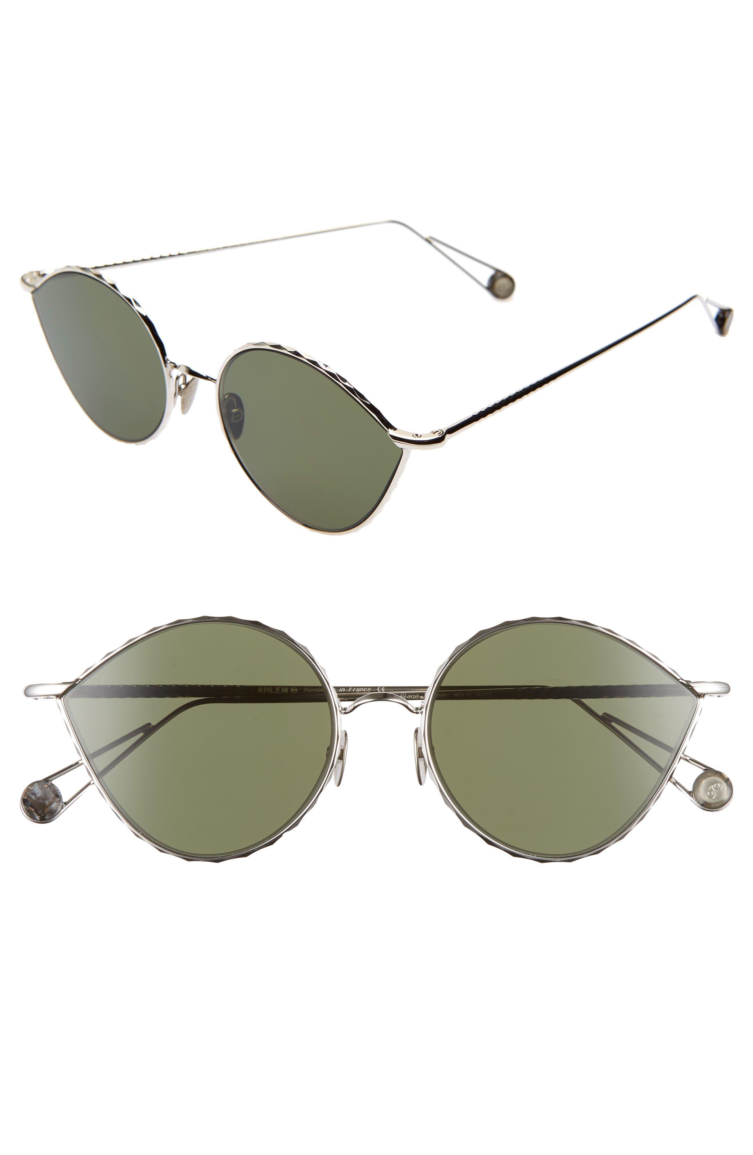 AHLEM Place Vauban 52Mm Cat Eye Sunglasses - White Gold