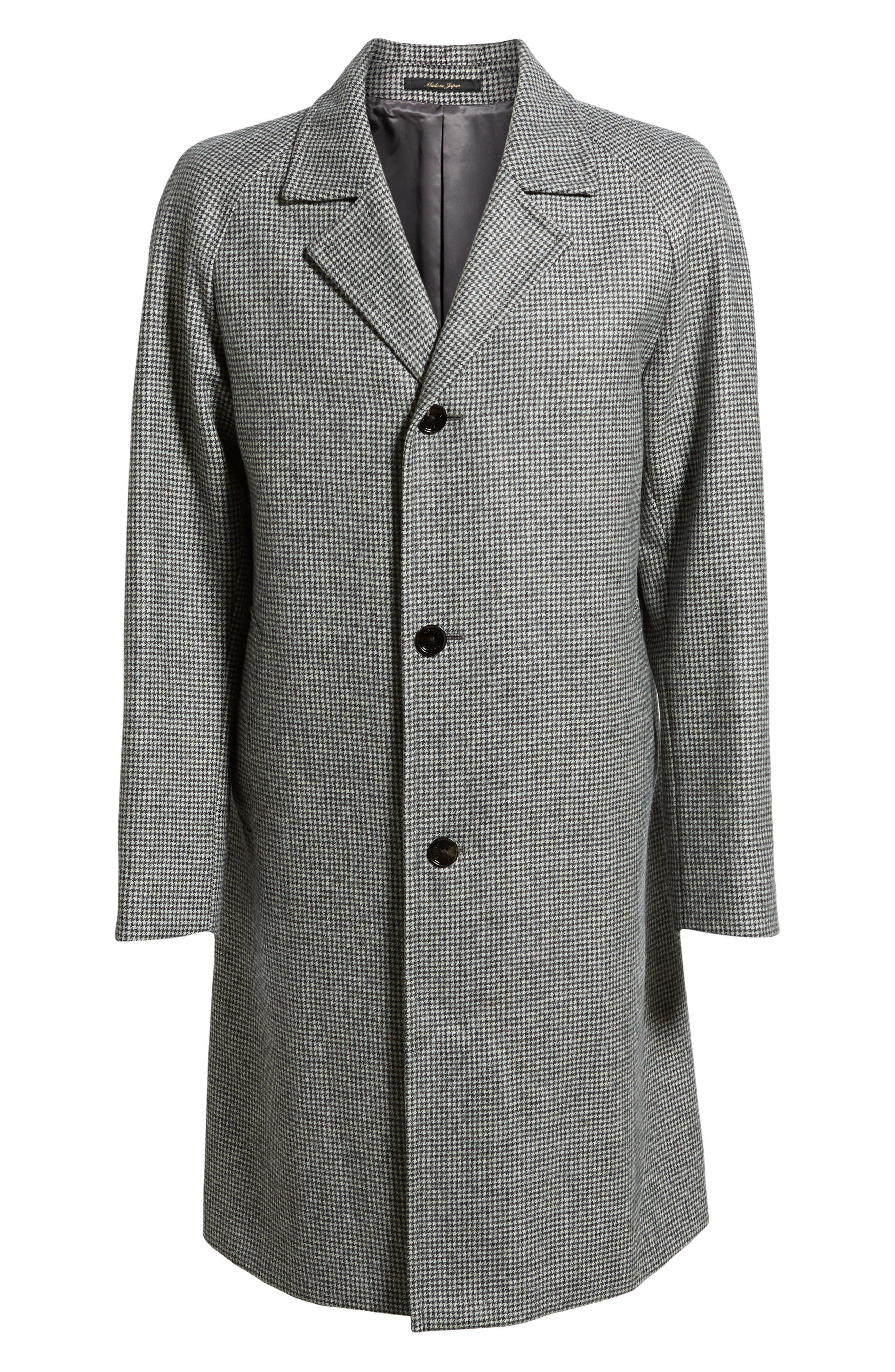 Wool Top Coat,                             Alternate thumbnail 5, color,                             GREY